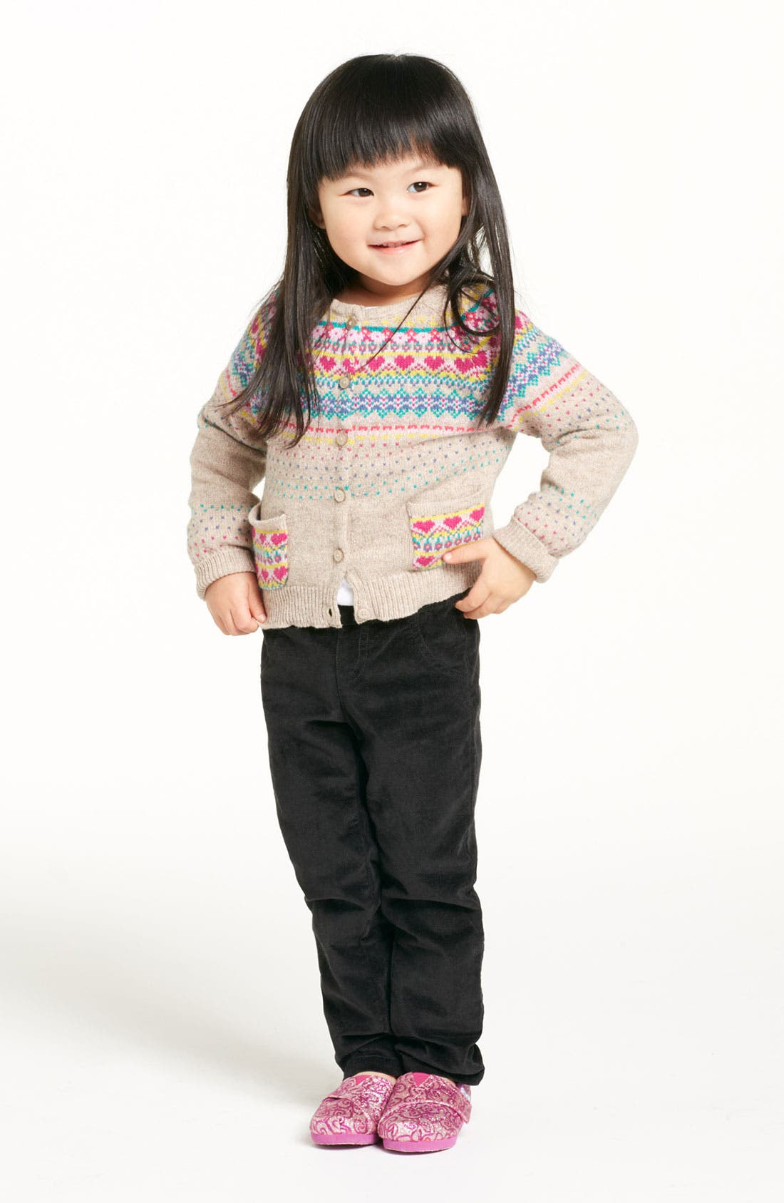 Alternate Image 1 Selected - United Colors of Benetton Sweater & Velvet Pants (Toddler)