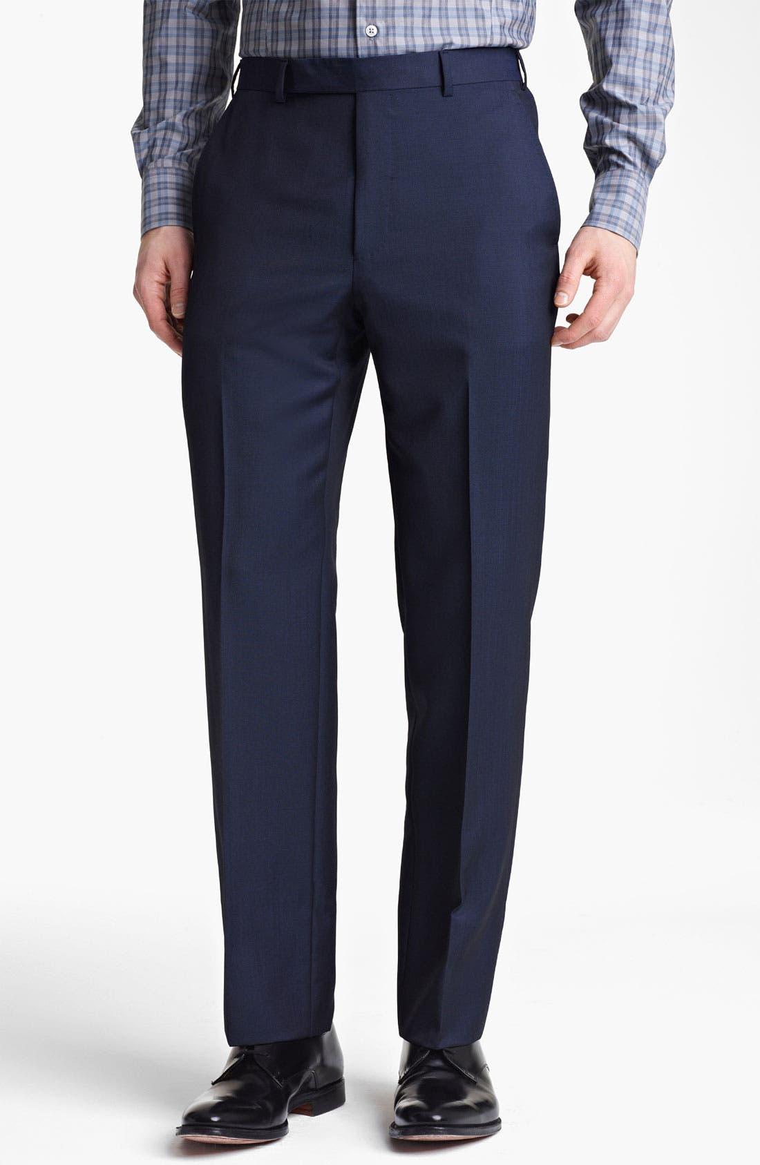 Alternate Image 4  - Z Zegna Trim Fit Wool Blend Suit