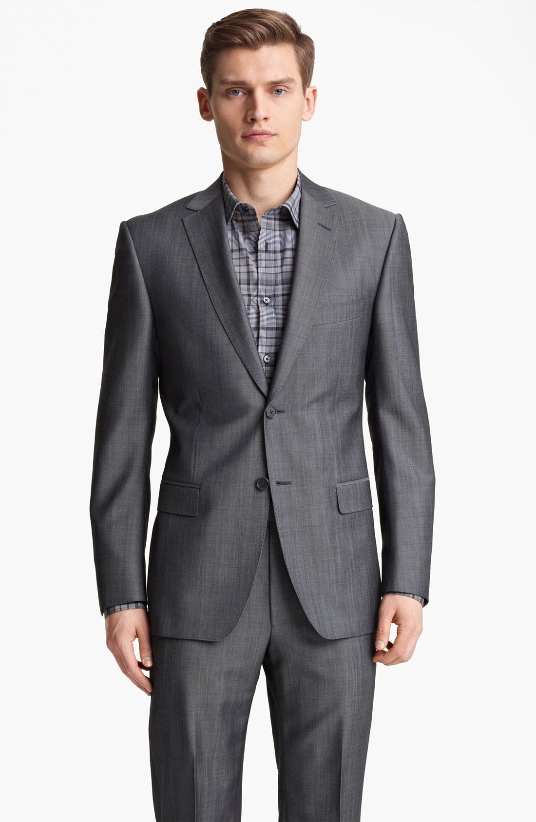 Alternate Image 1 Selected - Z Zegna Trim Fit Wool Blend Suit