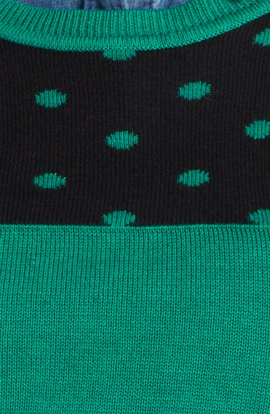 Alternate Image 3  - Caslon® Patterned Crewneck Sweater