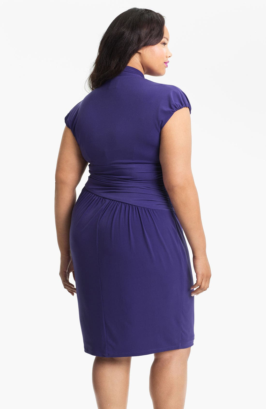 Alternate Image 2  - Suzi Chin for Maggy Boutique Jersey Knit Dress (Plus Size)