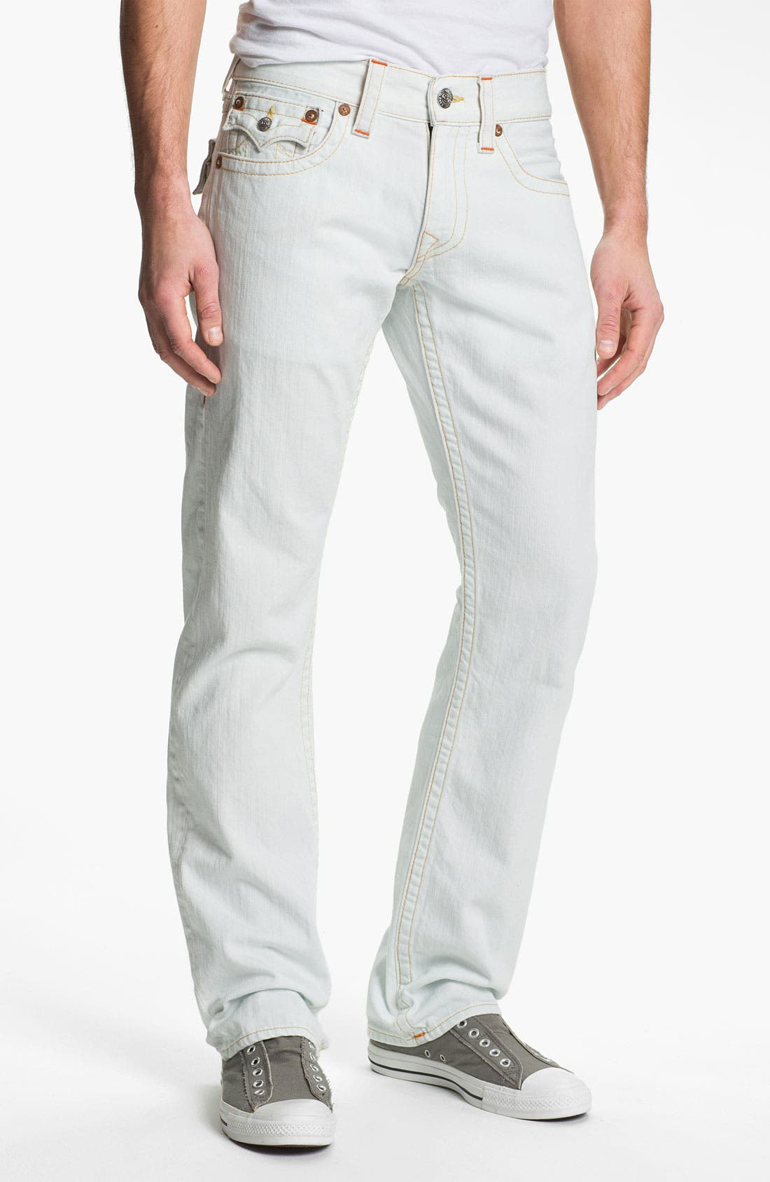 Alternate Image 2  - True Religion Brand Jeans 'Ricky' Straight Leg Jeans (Bleached) (Online Exclusive)