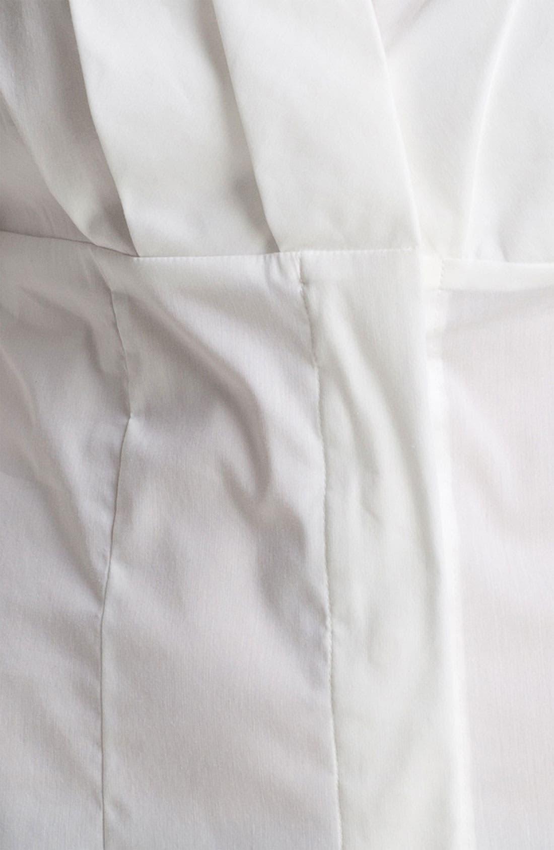 Alternate Image 3  - Anne Klein Pleated V-Neck Shirt