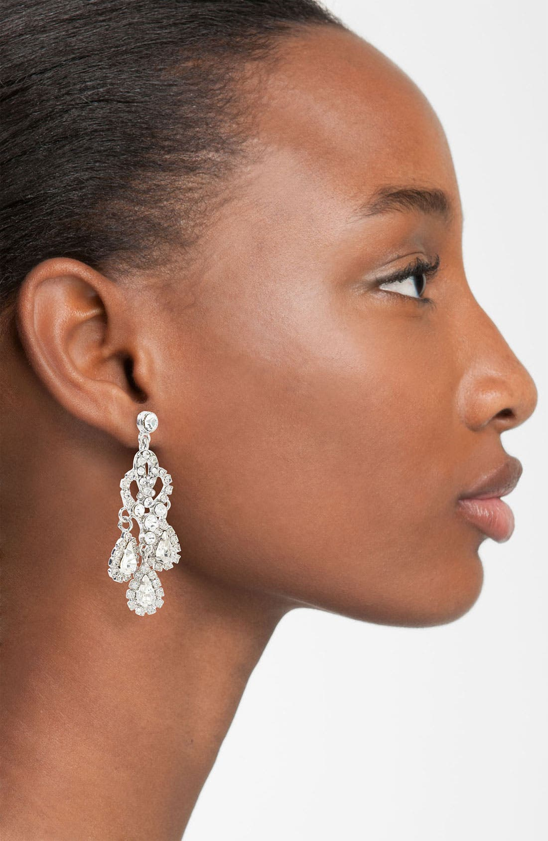 Alternate Image 2  - Nina 'Brooklyn' Crystal Teardrop Chandelier Earrings