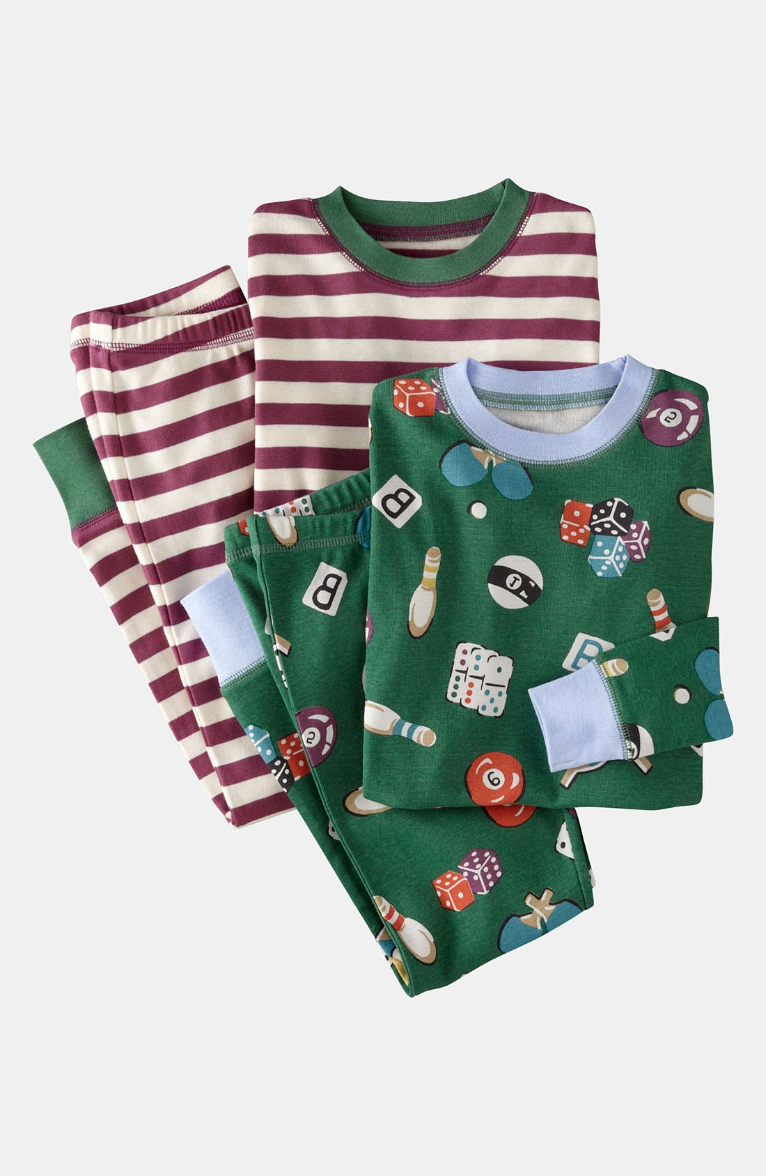 Alternate Image 1 Selected - Mini Boden Two Piece Fitted Pajamas (2-Pack) (Toddler, Little Boys & Big Boys)