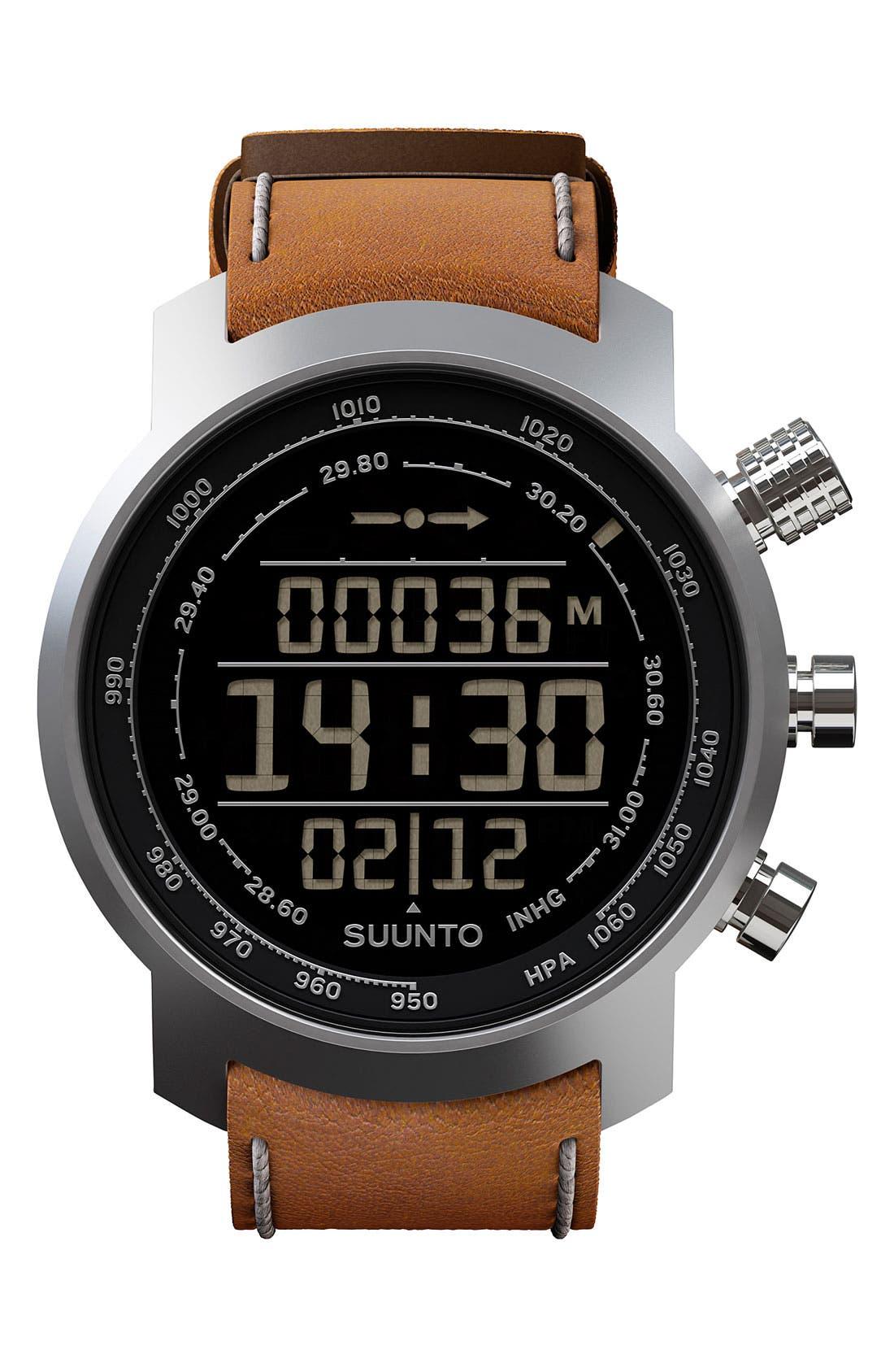 Main Image - Suunto 'Terra' Leather Strap Watch, 51mm