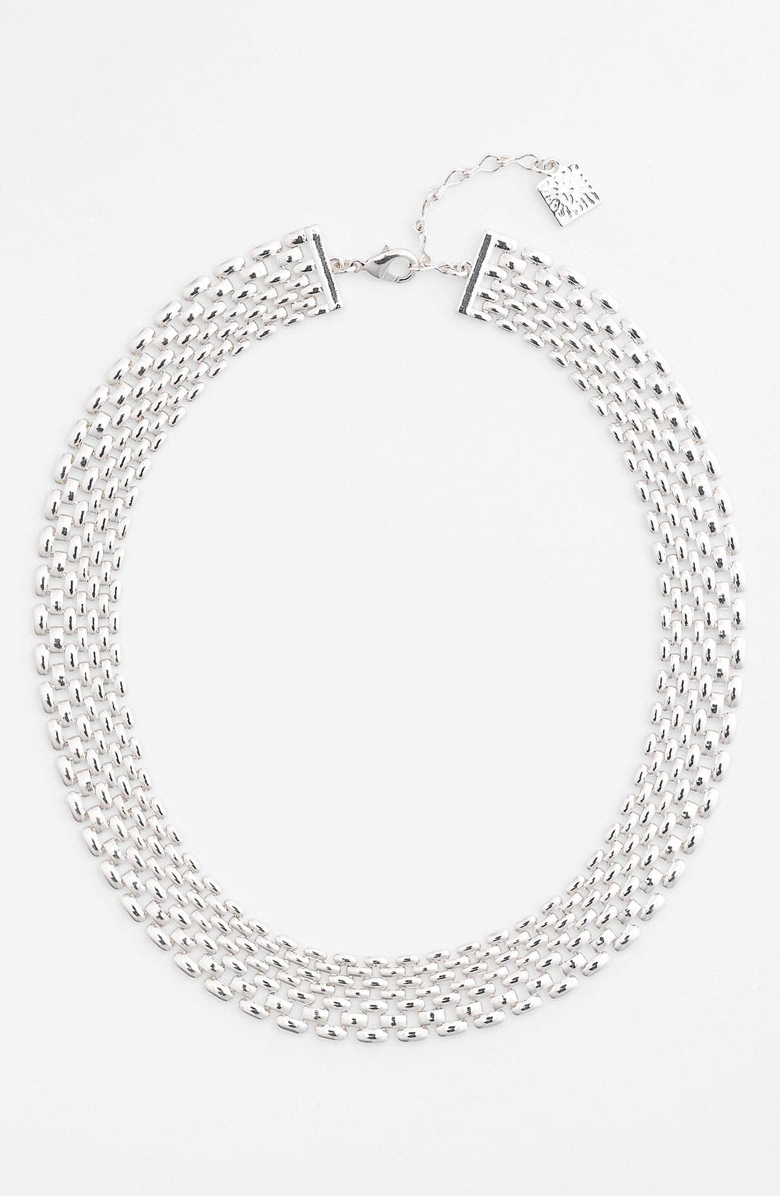 Alternate Image 1 Selected - Anne Klein Lattice Link Collar Necklace