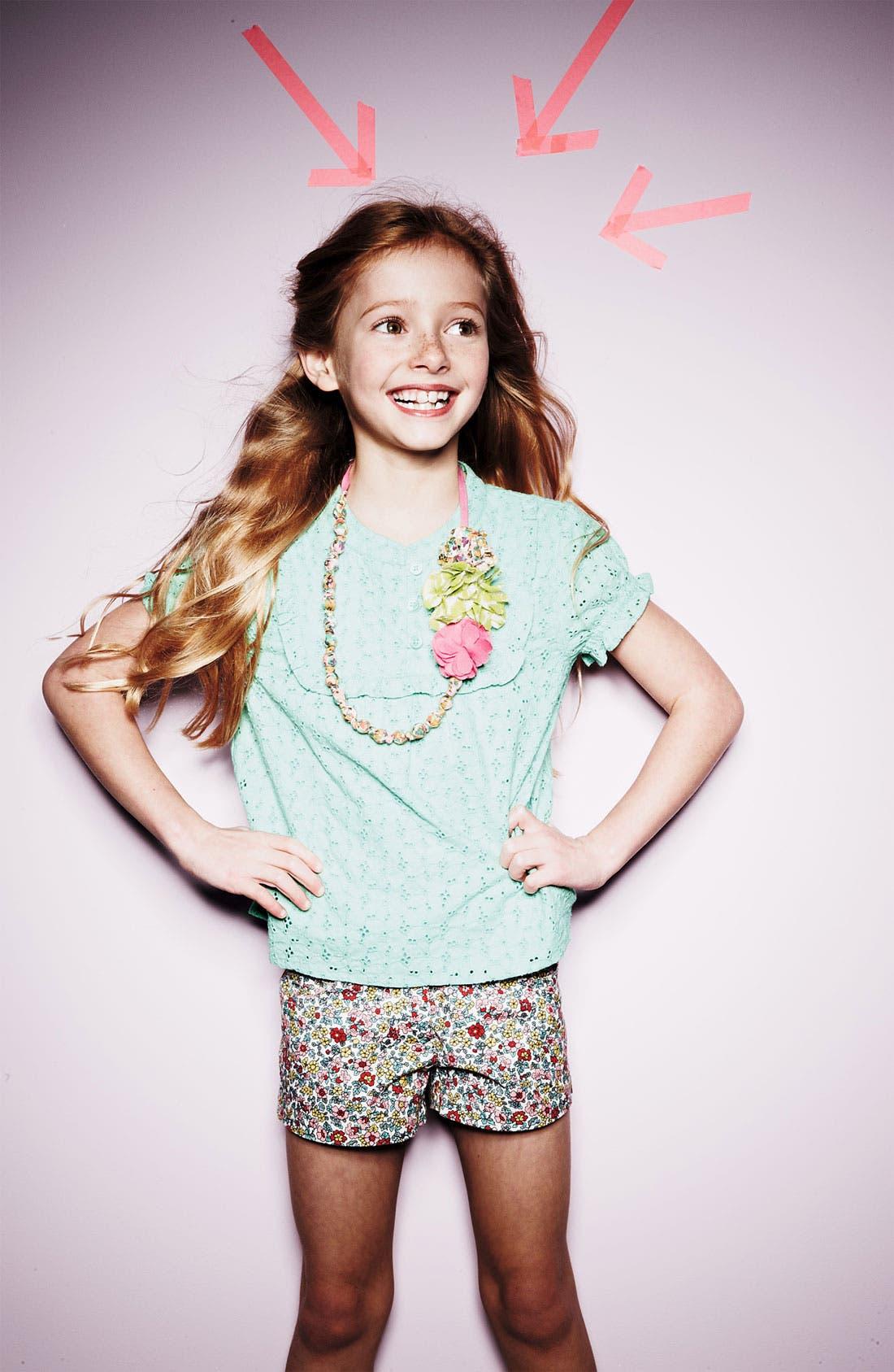 Alternate Image 2  - Mini Boden 'Pretty' Eyelet Top (Toddler, Little Girls & Big Girls)