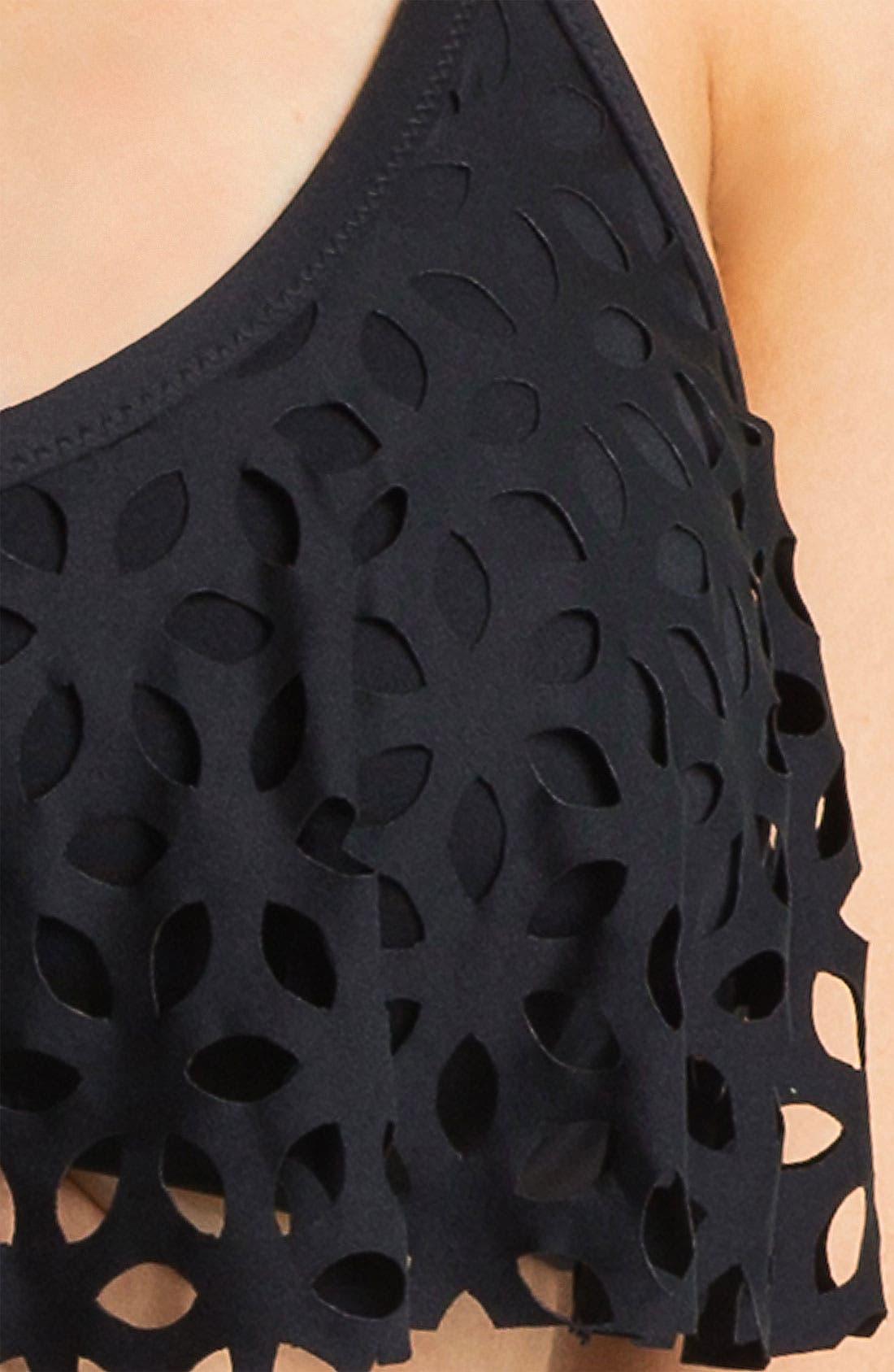 Alternate Image 5  - Luxe by Lisa Vogel 'Pandora' Flutter Bikini Top