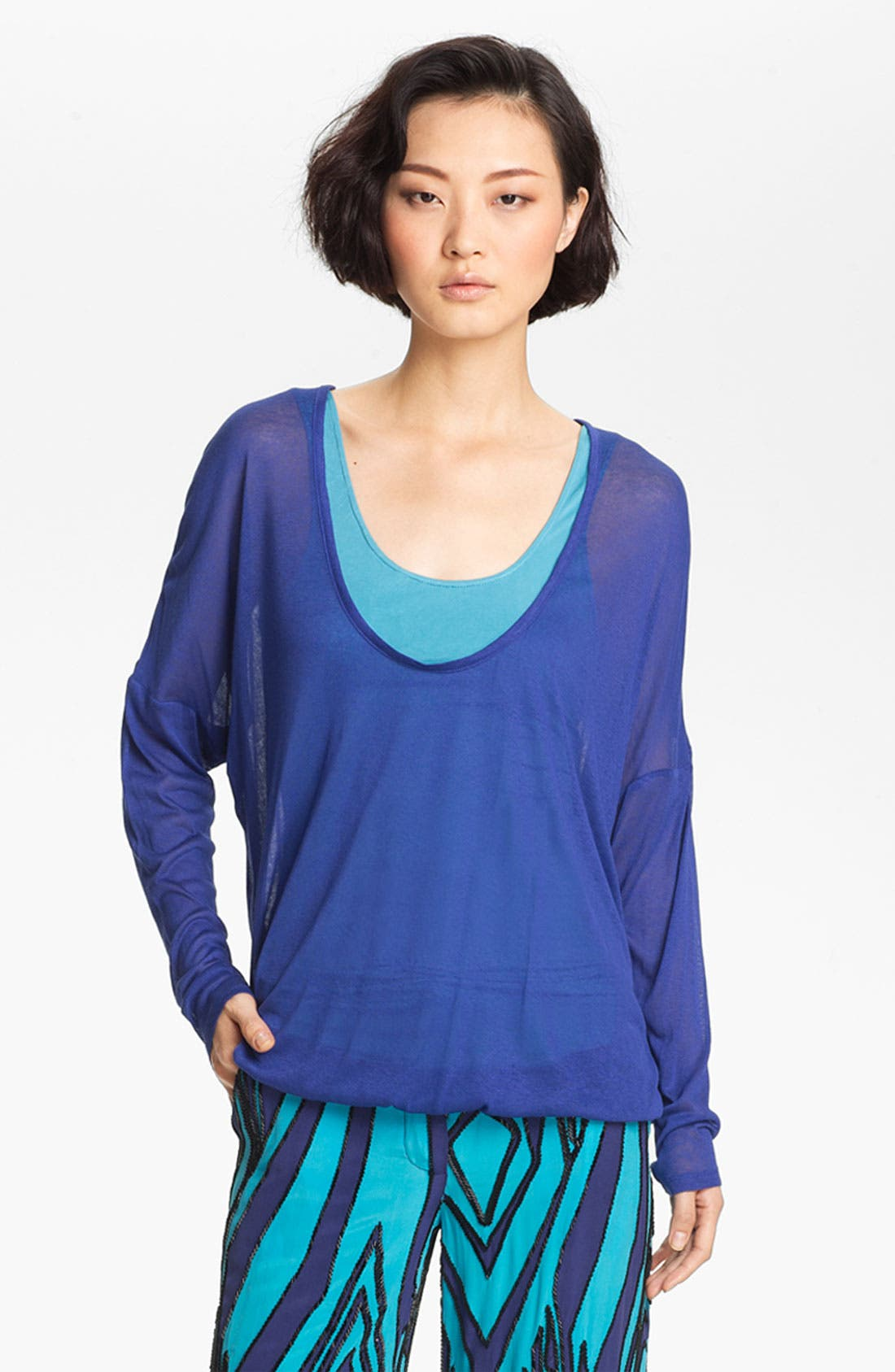 Alternate Image 2  - Tracy Reese Dolman Sleeve Jersey Top