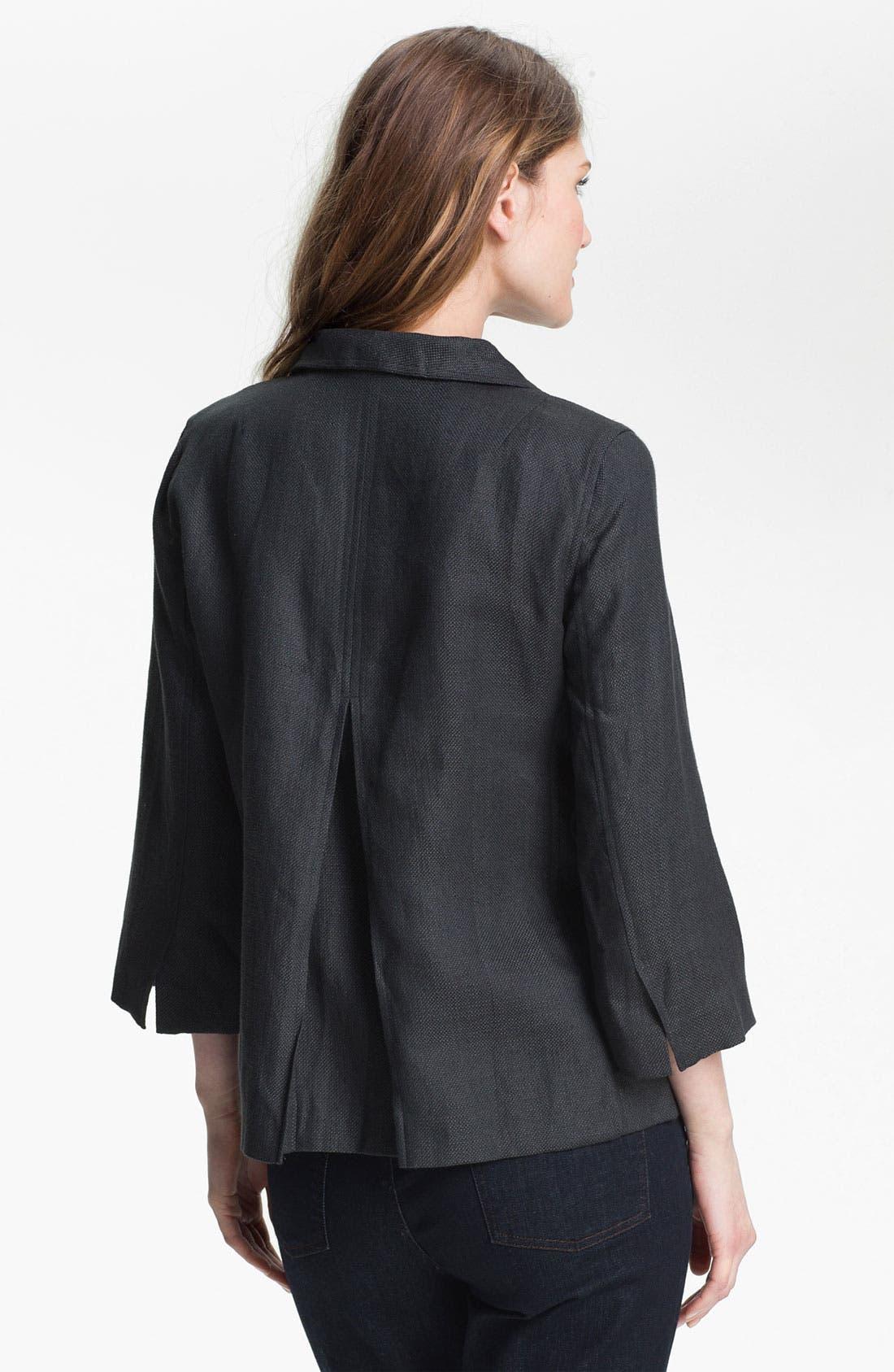 Alternate Image 2  - Eileen Fisher Basket Weave Linen Blend Jacket