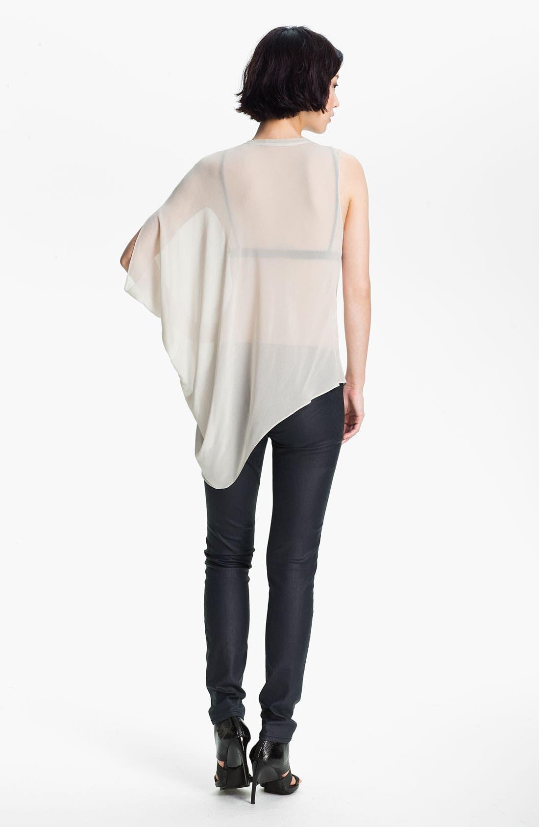 Alternate Image 3  - HELMUT Helmut Lang 'Ghost Silk' Asymmetrical Top