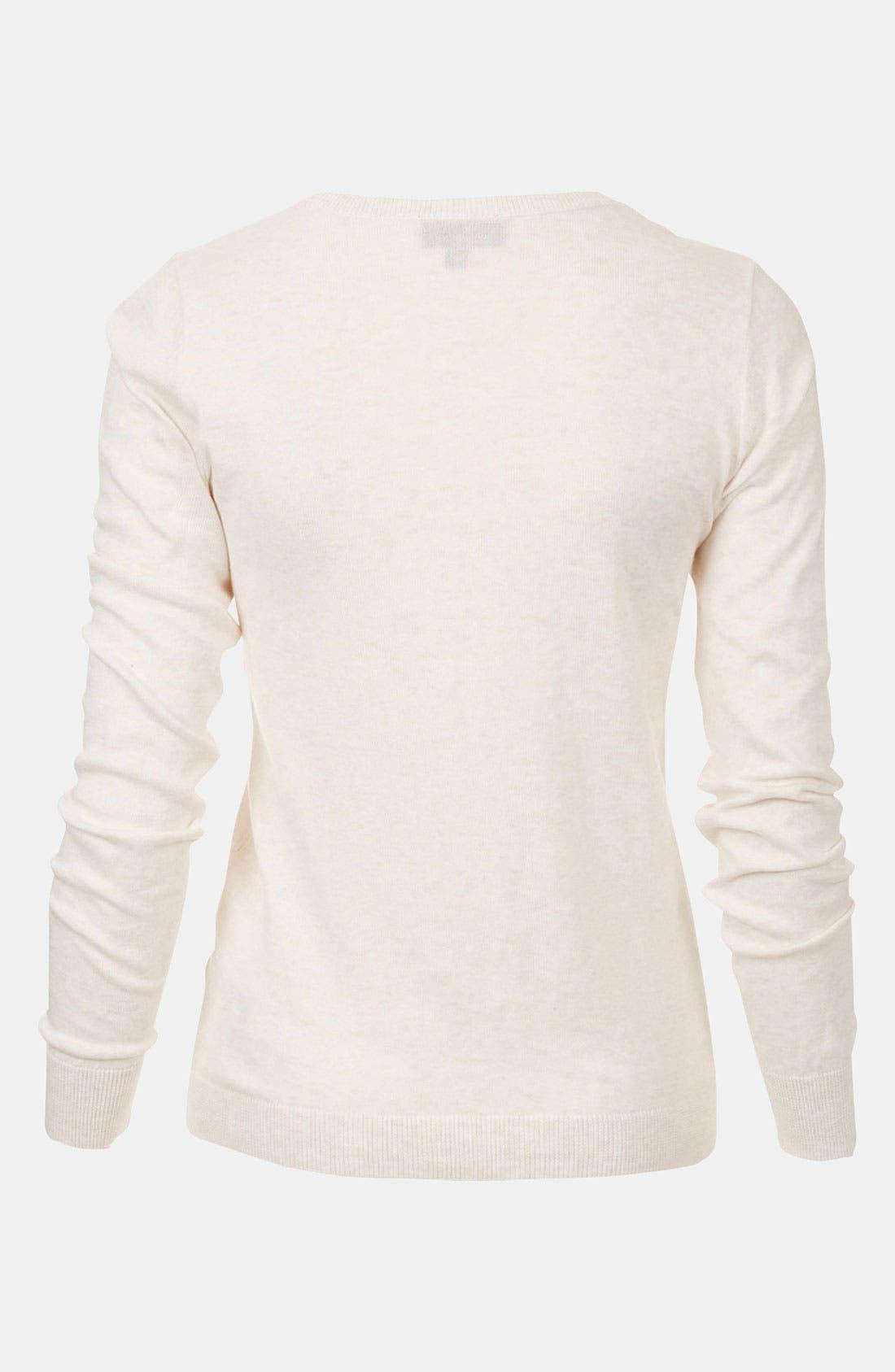 Alternate Image 2  - Topshop Lace Trim Sweater