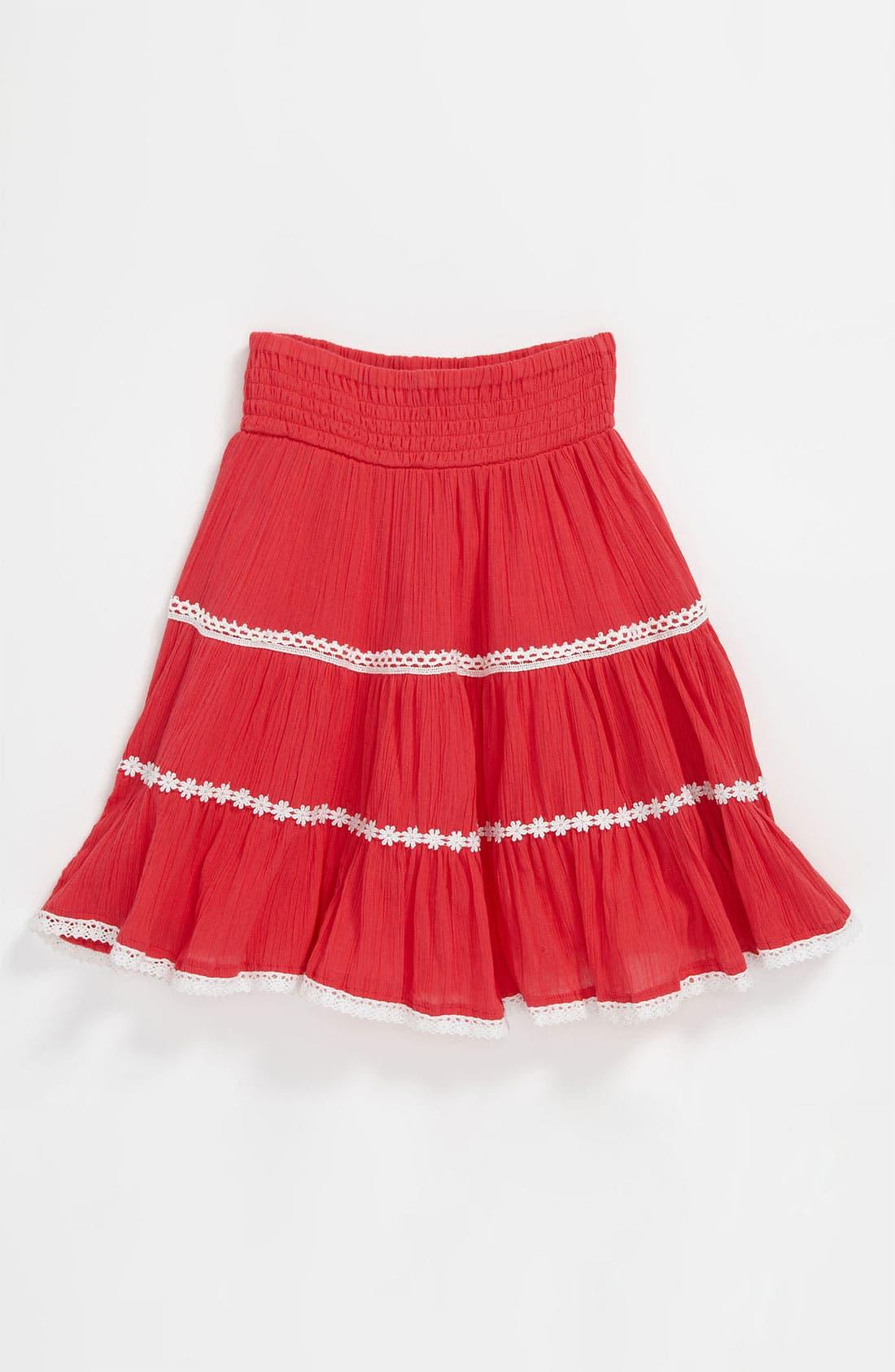 Alternate Image 1 Selected - Pumpkin Patch Tiered Skirt (Little Girls & Big Girls)