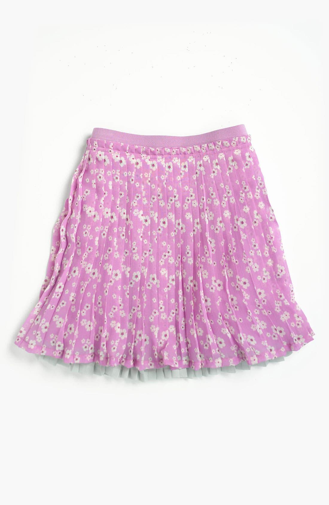 Alternate Image 1 Selected - Ruby & Bloom 'Chloé' Pleated Skirt (Big Girls)