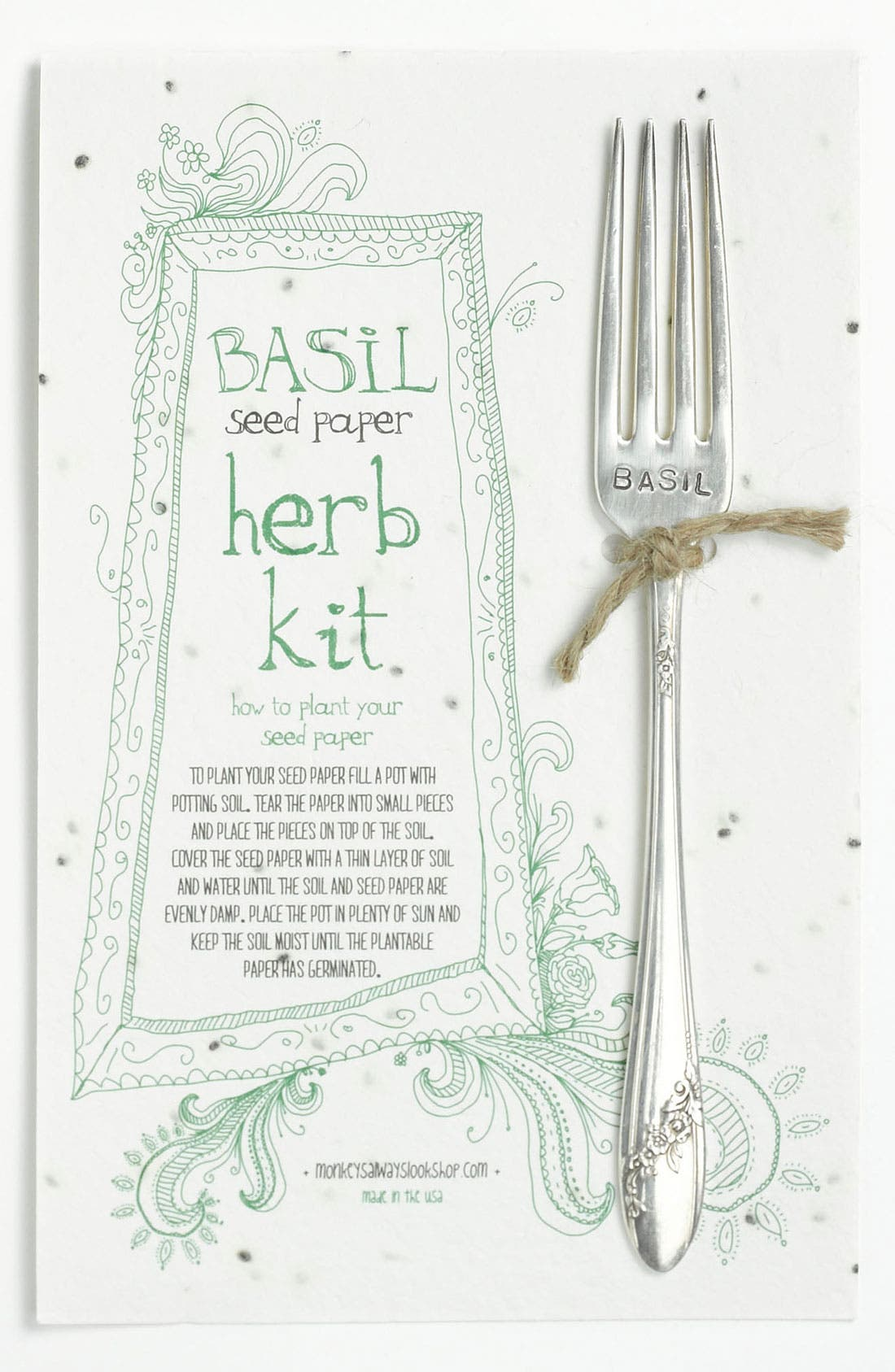 Main Image - Basil Herb Kit & Garden Marker