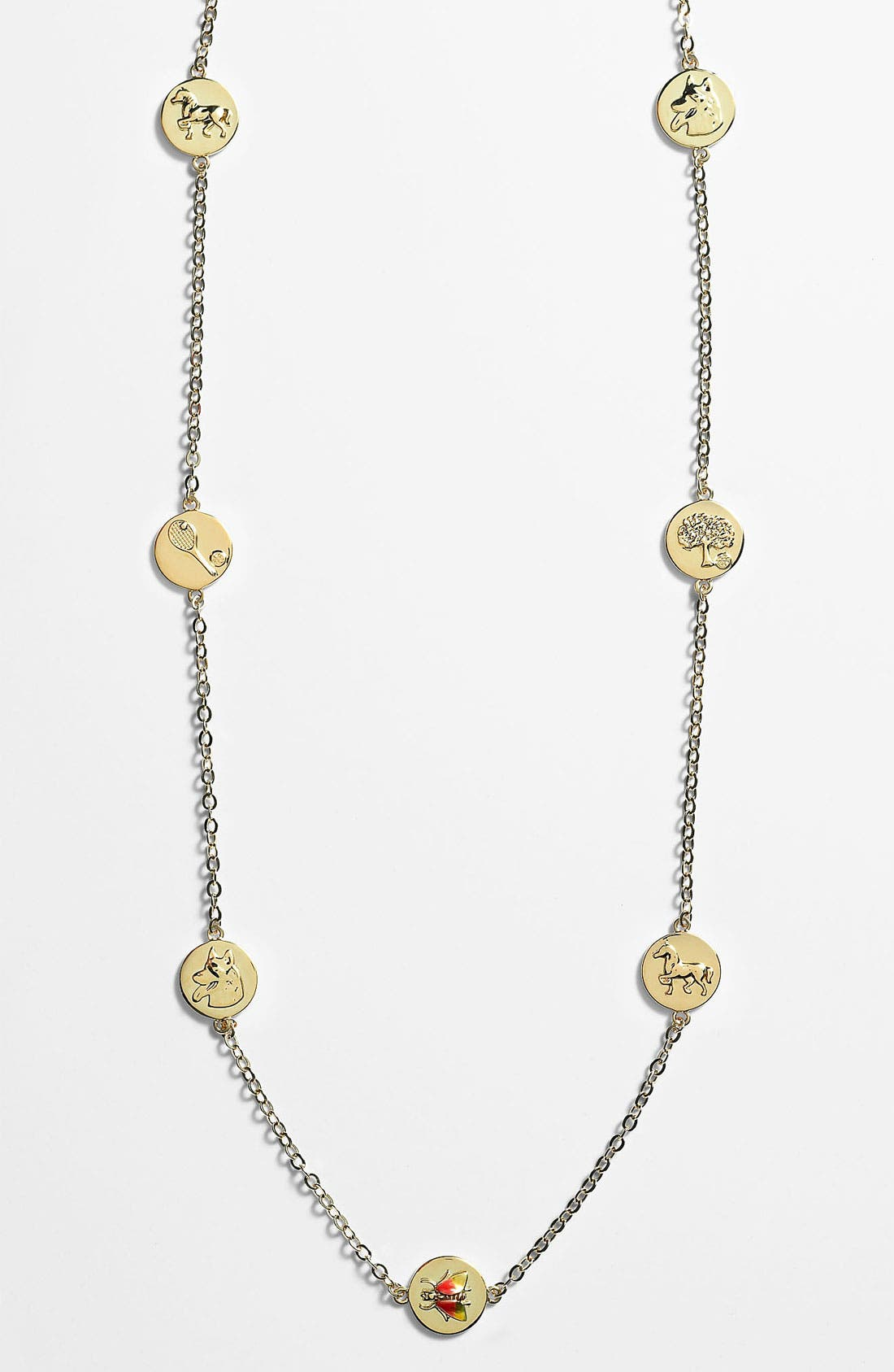 Main Image - Tory Burch 'Buddy' Long Station Necklace