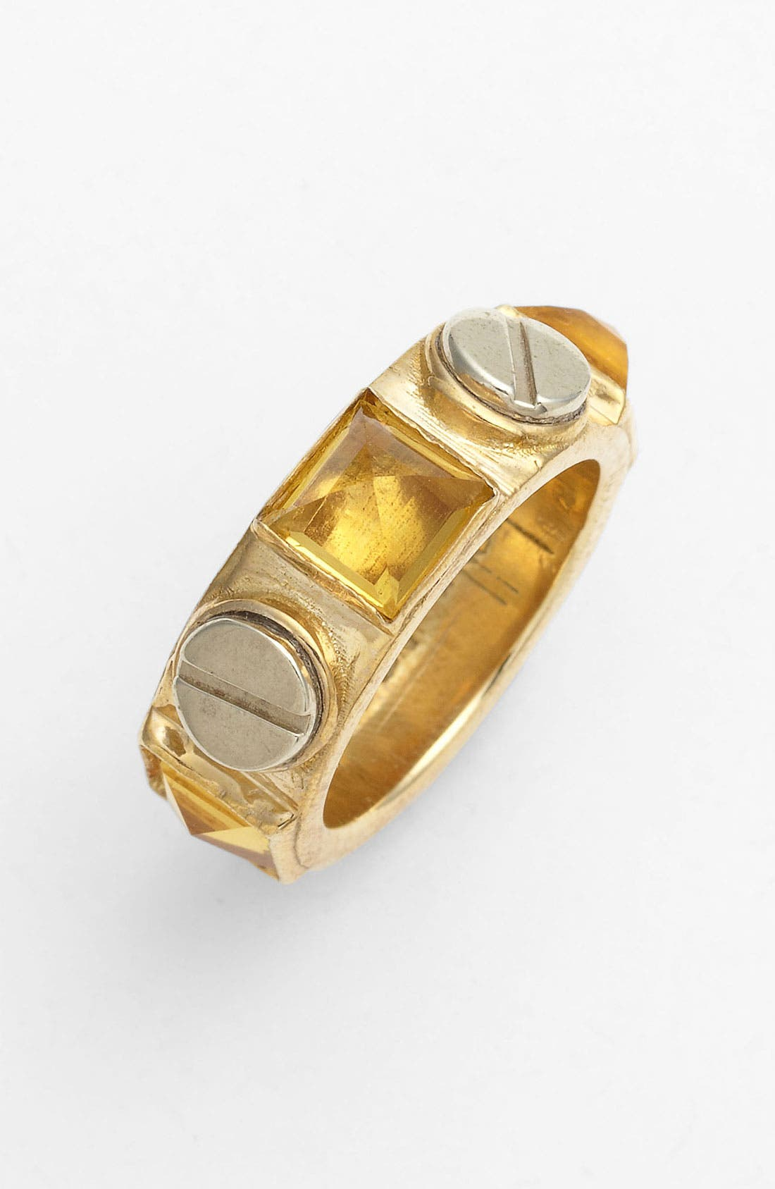 Alternate Image 1 Selected - Kelly Wearstler Screw & Faceted Stone Ring