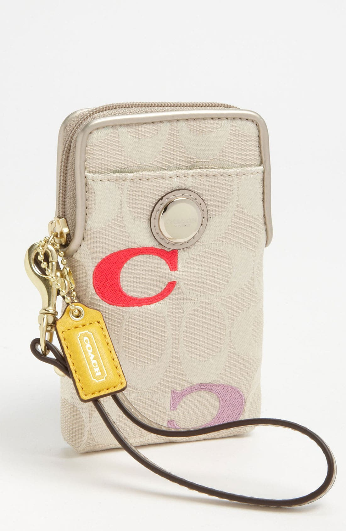 Alternate Image 1 Selected - COACH 'Embossed Signature' Universal Phone Case