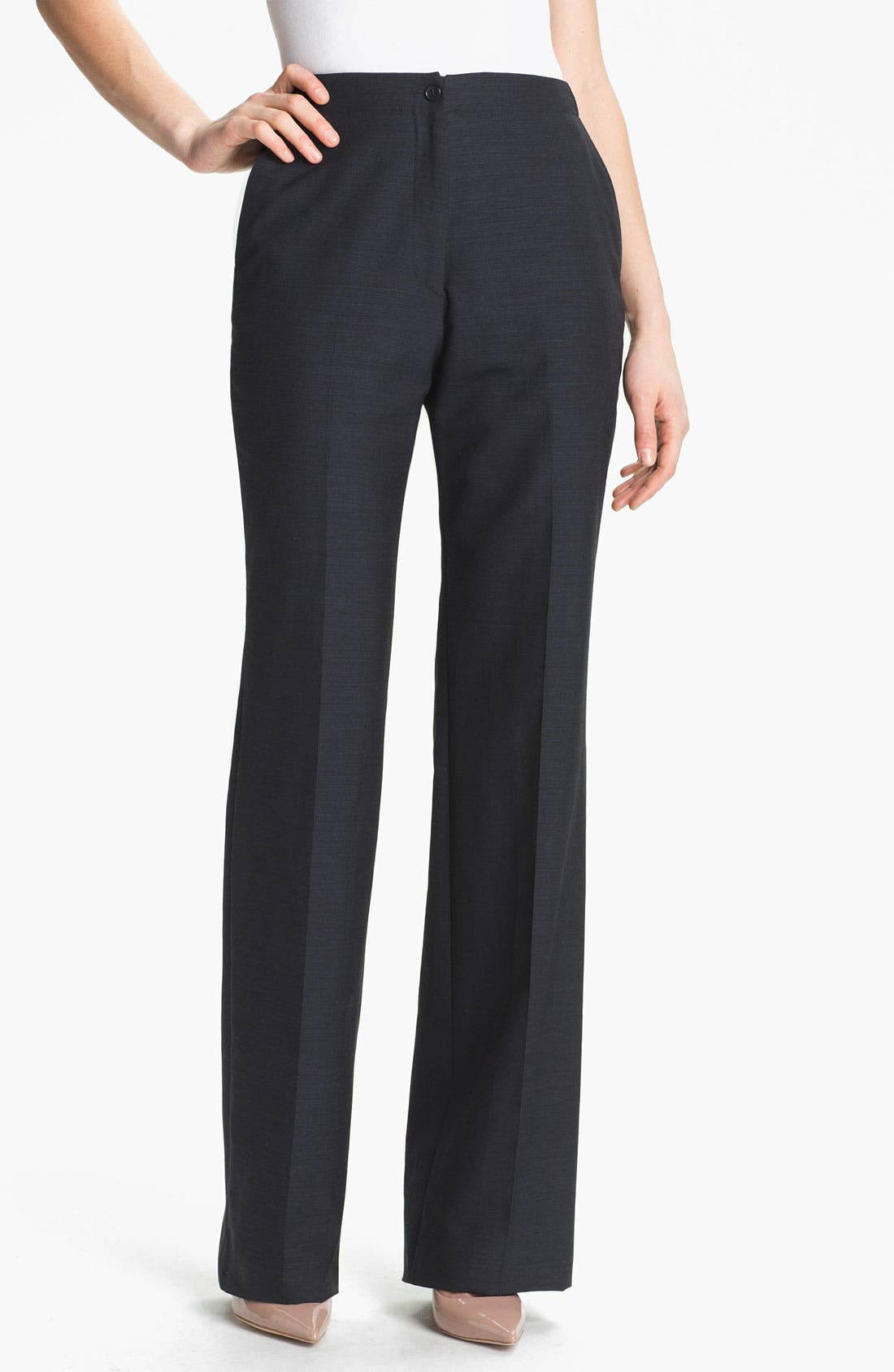Alternate Image 1 Selected - Santorelli 'Gabriella' Wool Blend Trousers