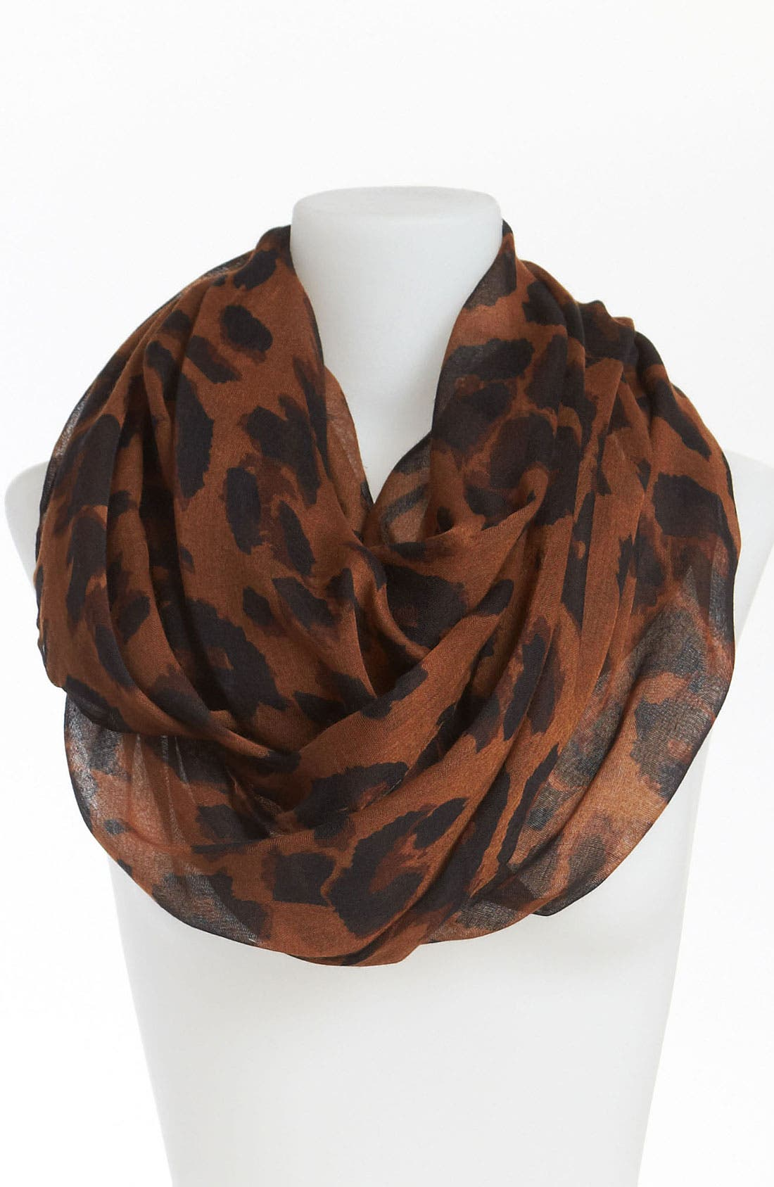 Main Image - David & Young Animal Print Infinity Scarf