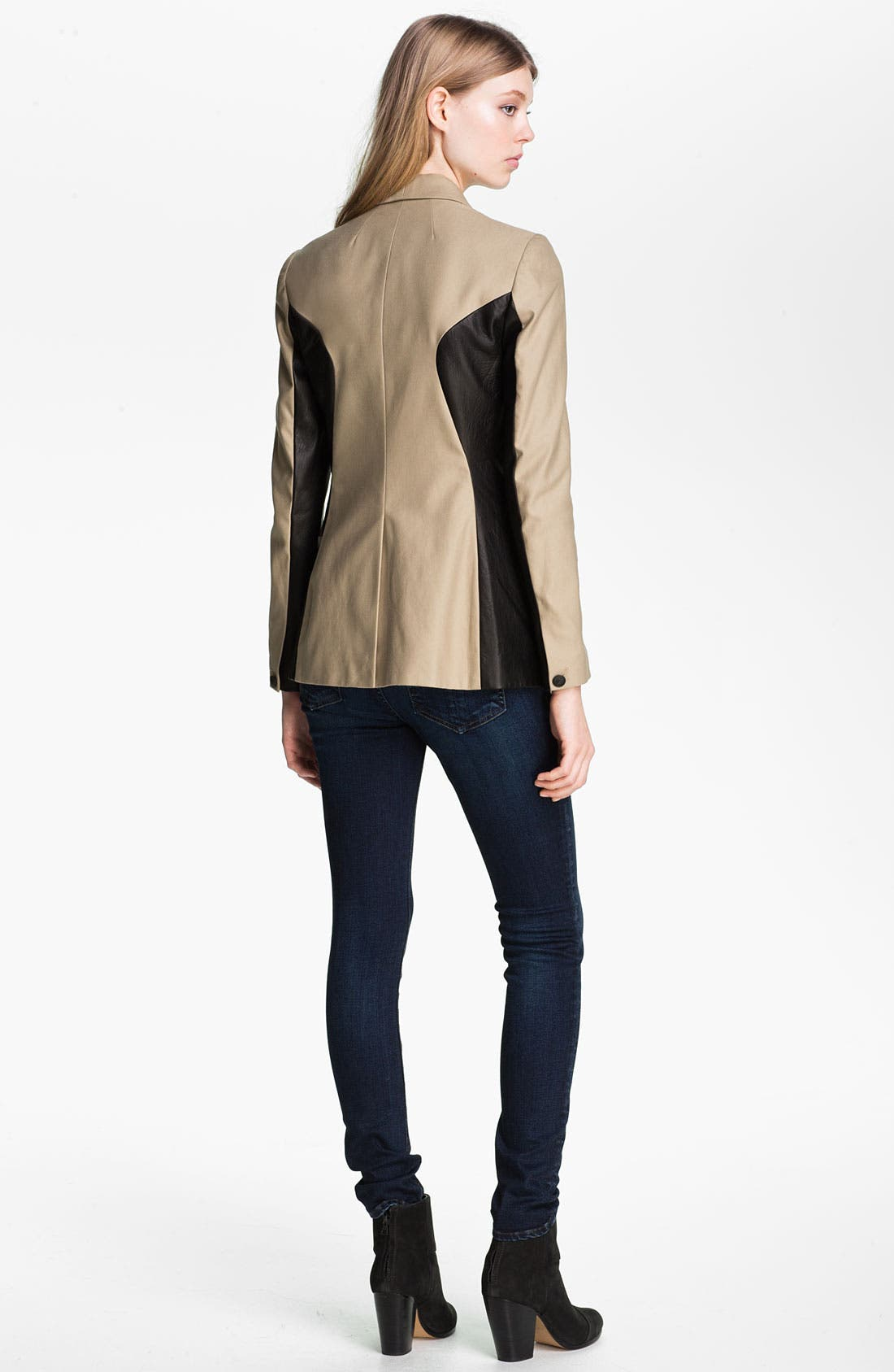 Alternate Image 4  - rag & bone 'Jefferson' Leather Panel Blazer