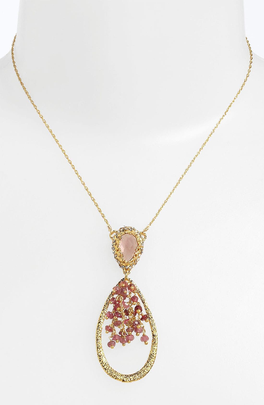 Alternate Image 1 Selected - Alexis Bittar 'Elements - Floral' Teardrop Pendant Necklace