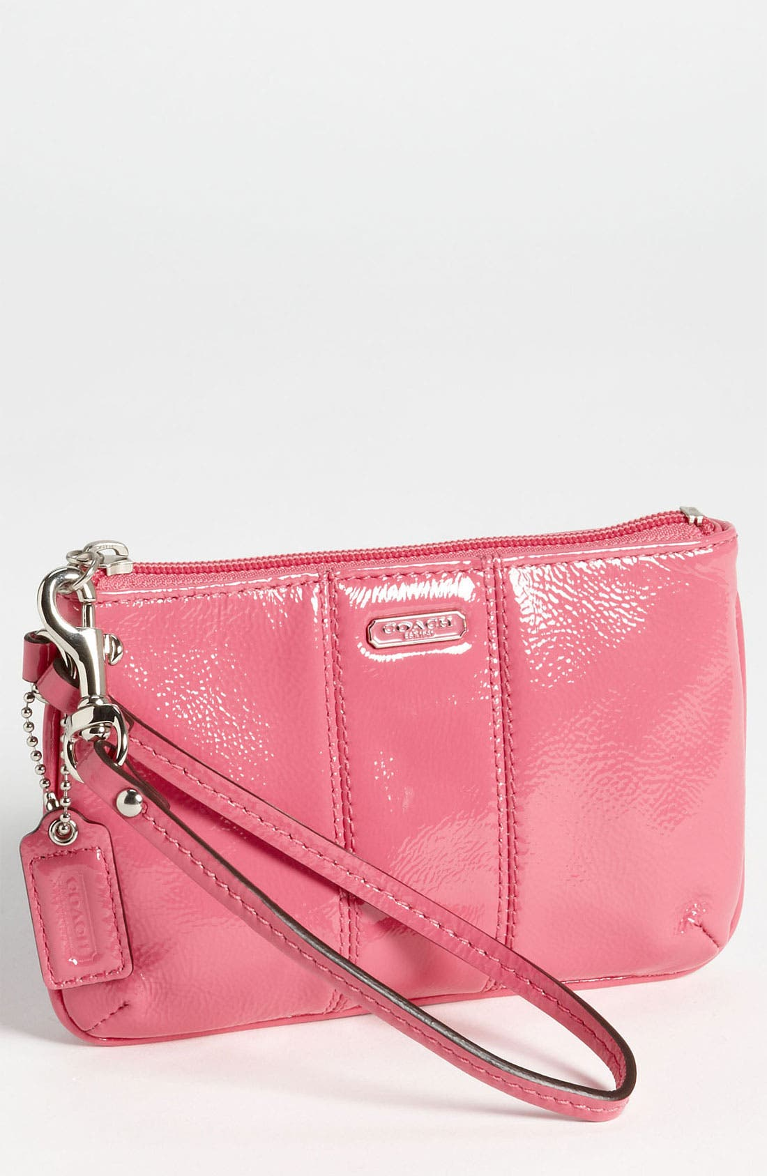Main Image - COACH 'Small' Patent Leather Wristlet