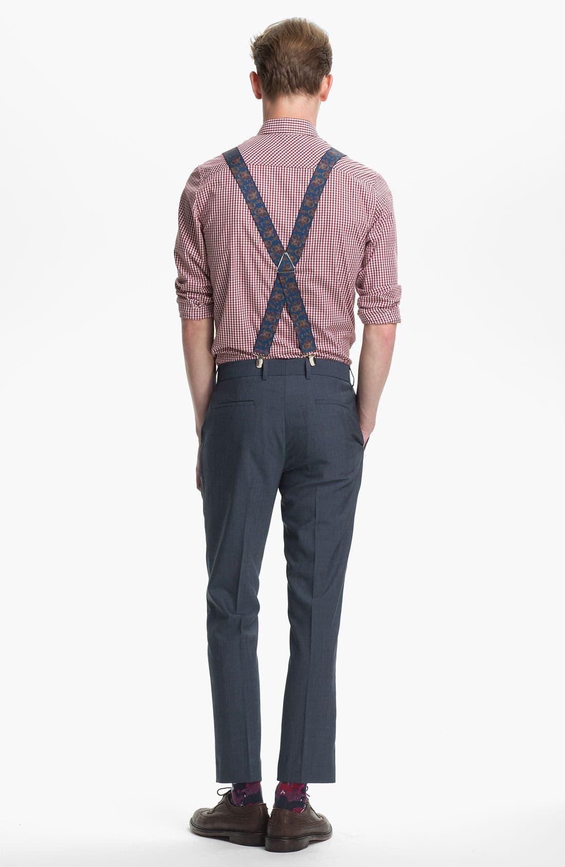 Alternate Image 4  - Topman Paisley Print Suspenders