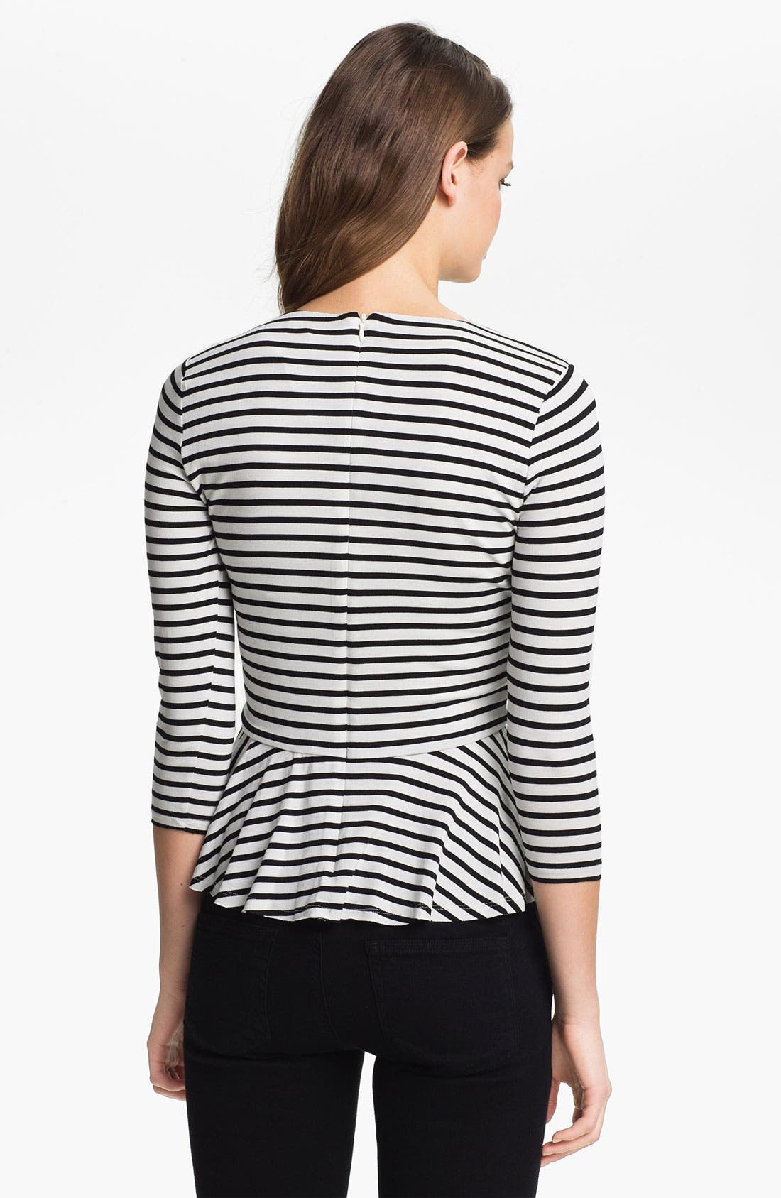 Alternate Image 2  - Vince Camuto Stripe Peplum Top