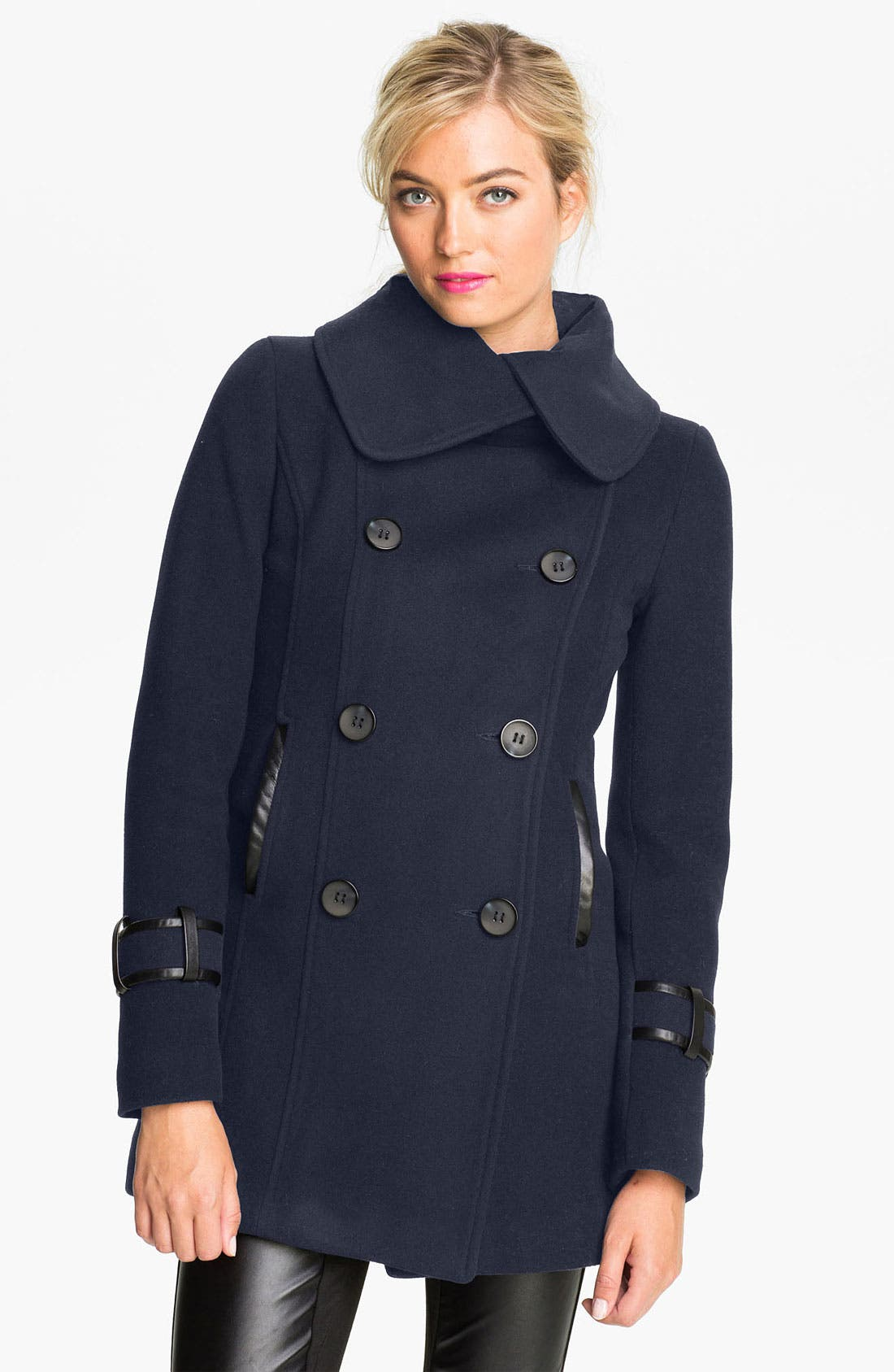 Alternate Image 1 Selected - Mackage 'Zyta' Peacoat (Petite)