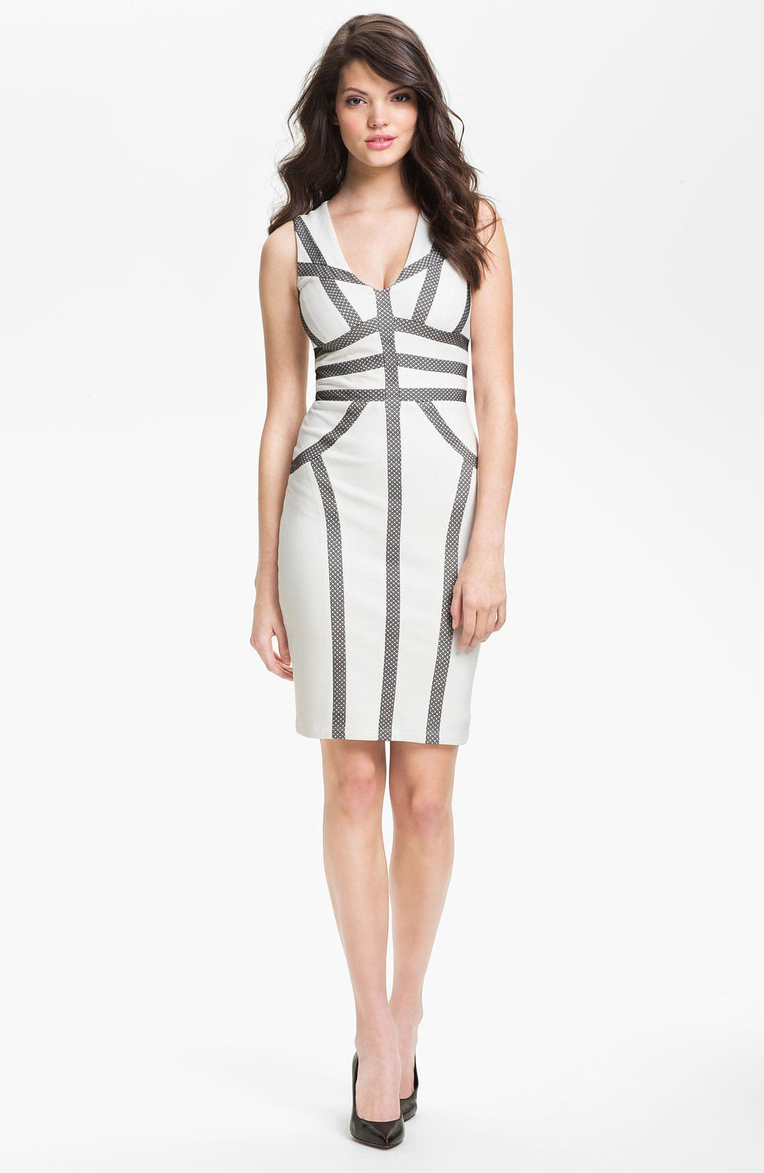 Alternate Image 1 Selected - BCBGMAXAZRIA Contoured Sheath Dress