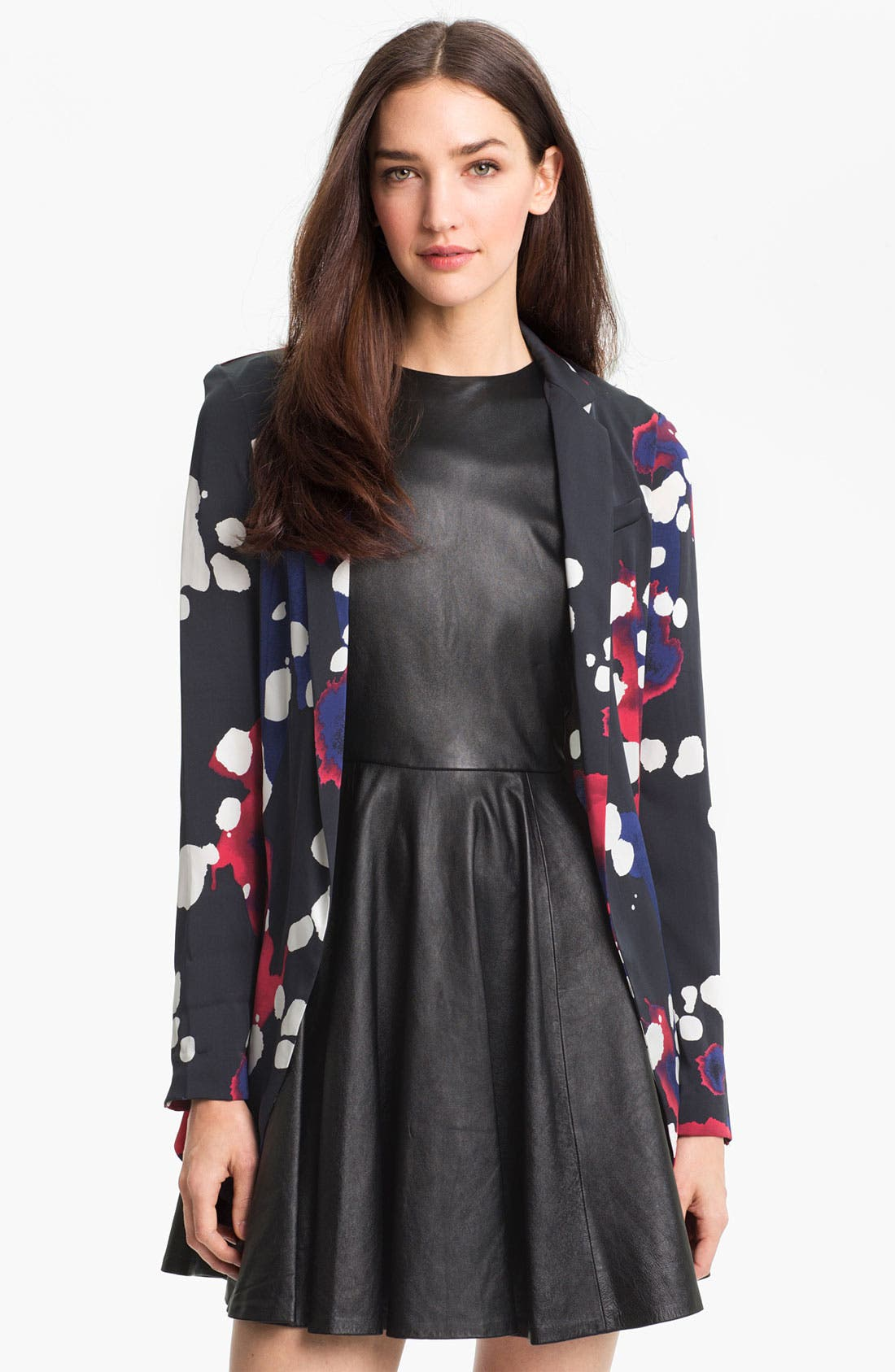 Alternate Image 1 Selected - Diane von Furstenberg Stretch Silk Blazer