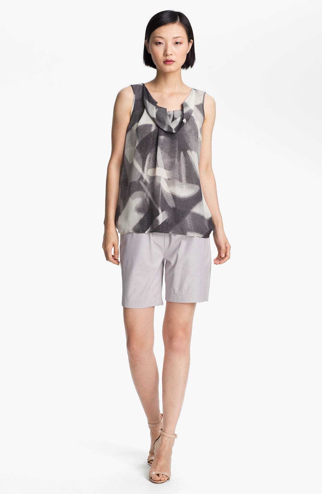 Main Image - Halston Heritage Abstract Print Double Georgette Top