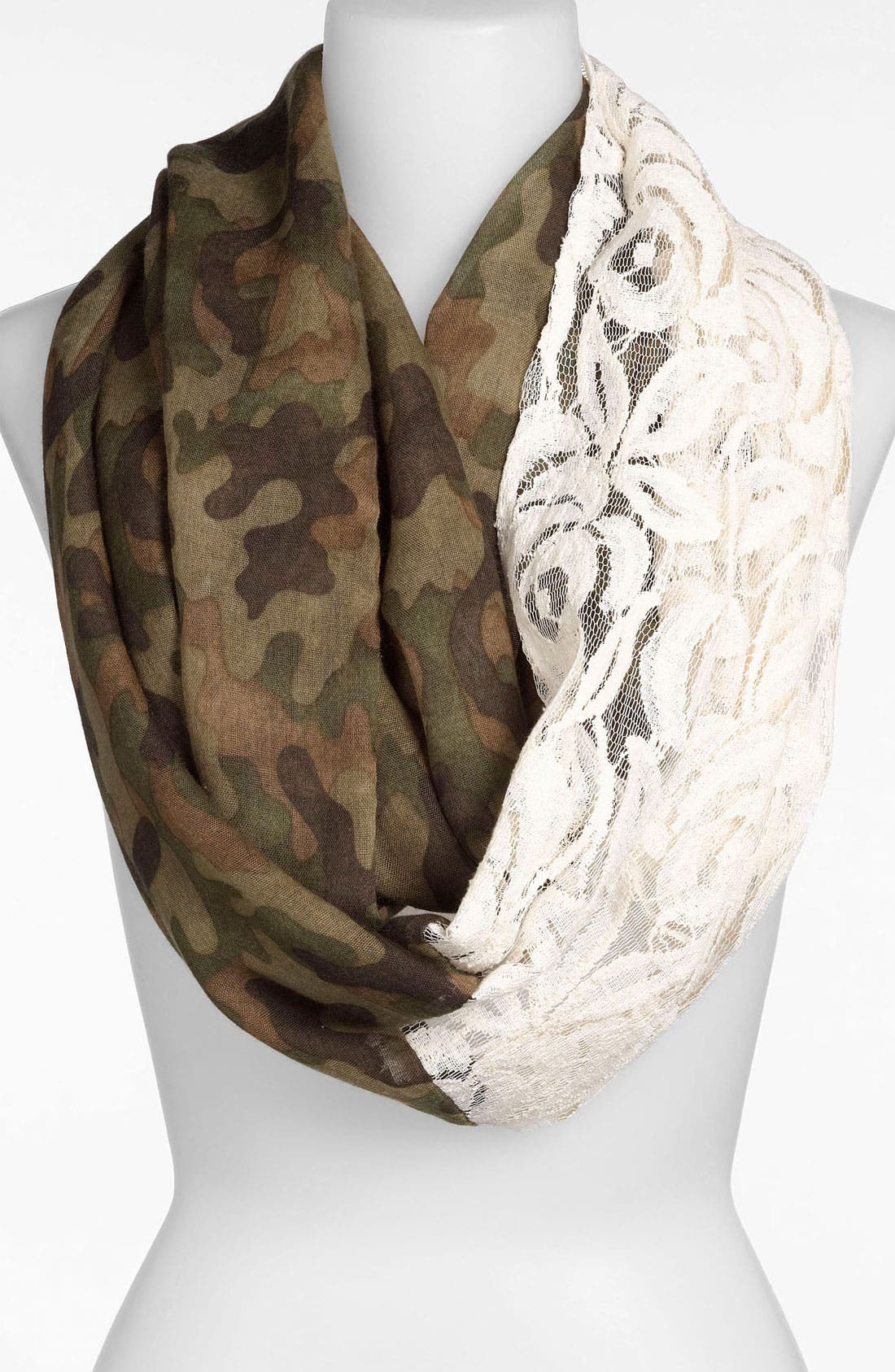 Alternate Image 1 Selected - BP. Camo & Lace Circle Scarf