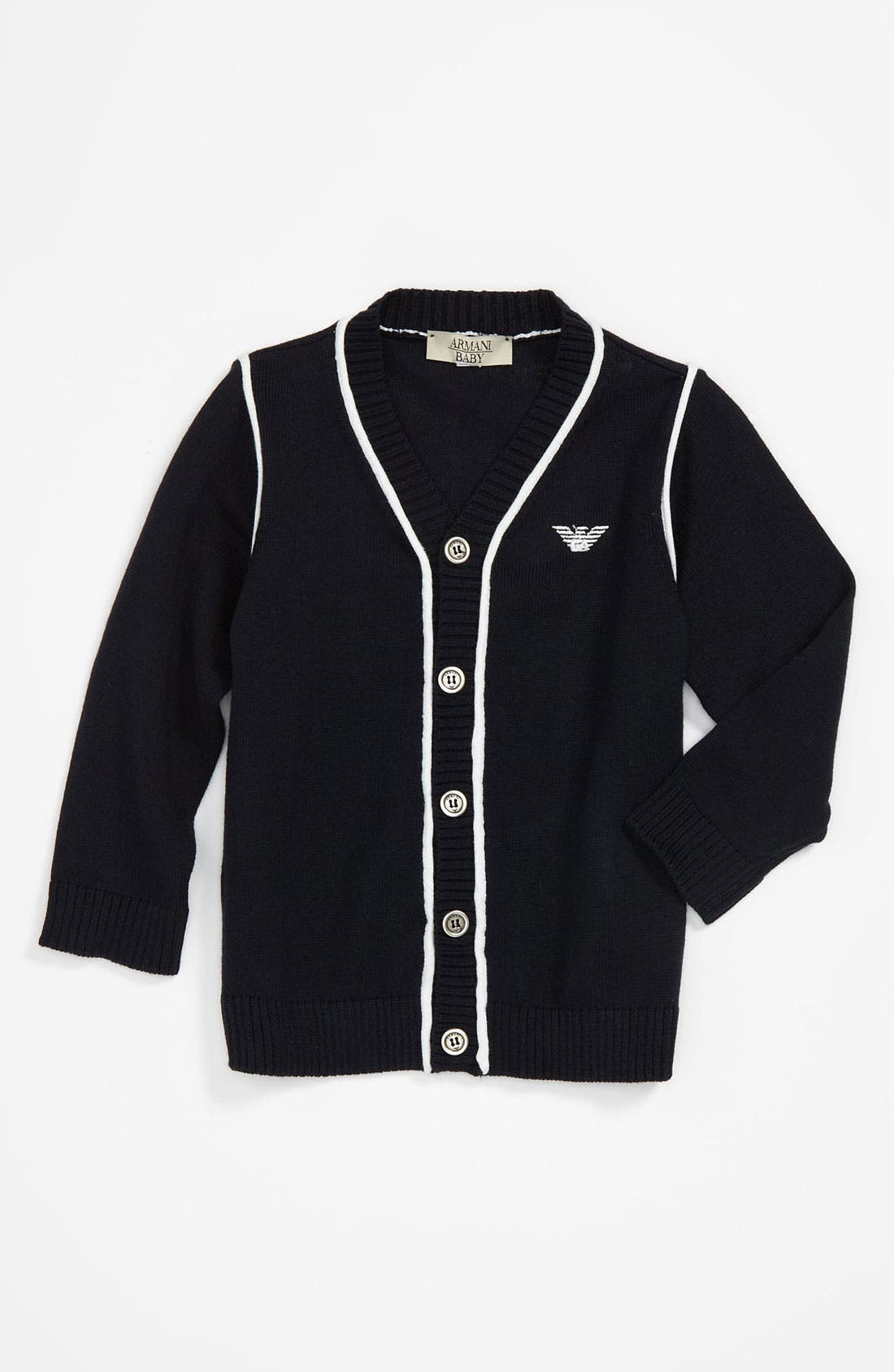 Main Image - Armani Junior Cardigan (Infant)