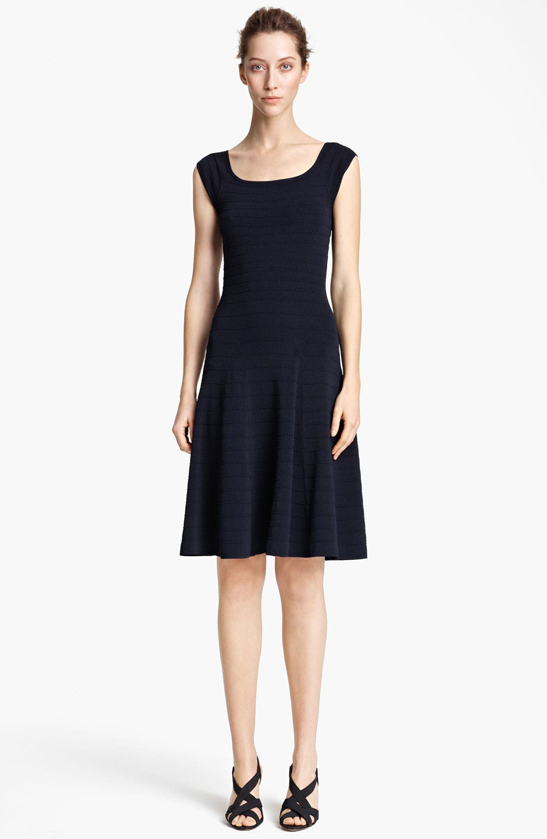 Main Image - Donna Karan Collection Ottoman Fit & Flare Dress