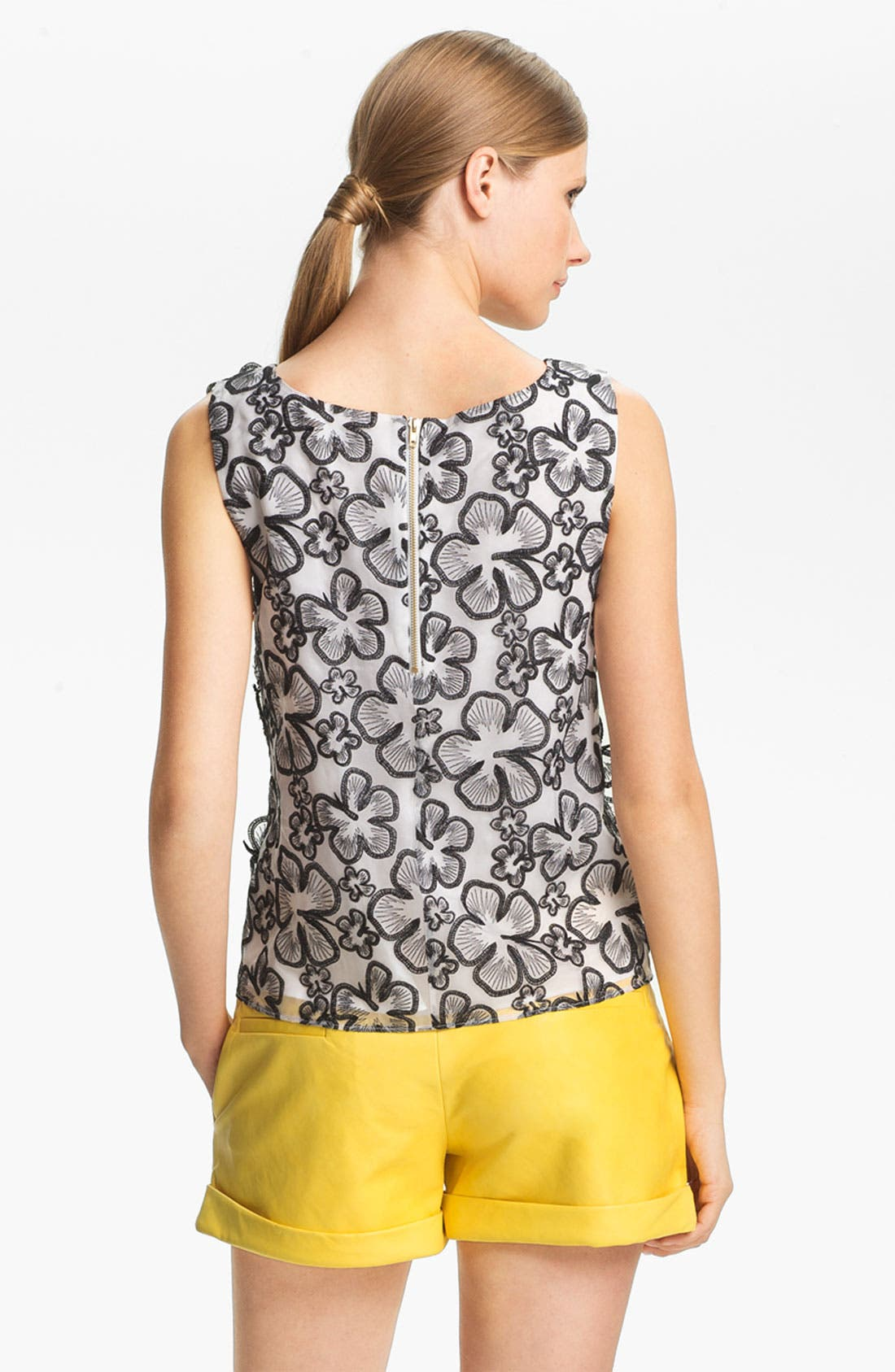 Alternate Image 3  - Alice + Olivia Flower Embellished Tank