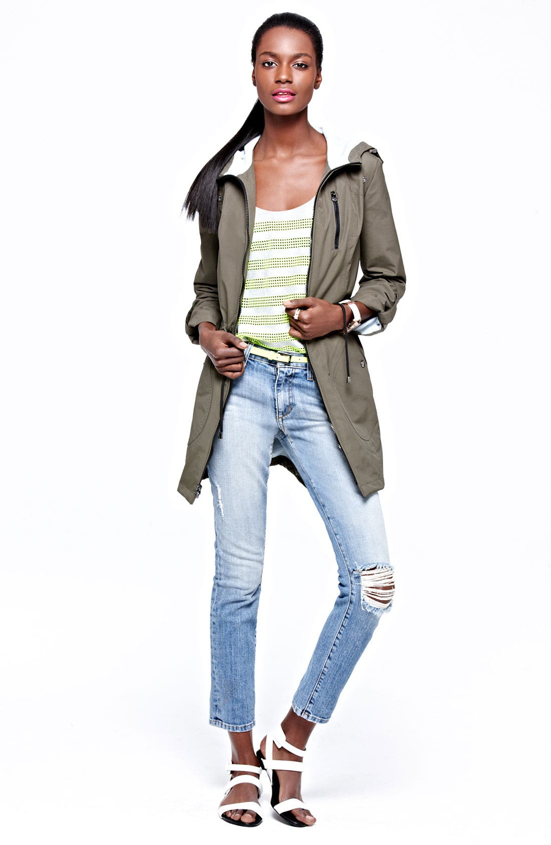 Alternate Image 5  - Laundry by Shelli Segal Packable Water Repellent Anorak