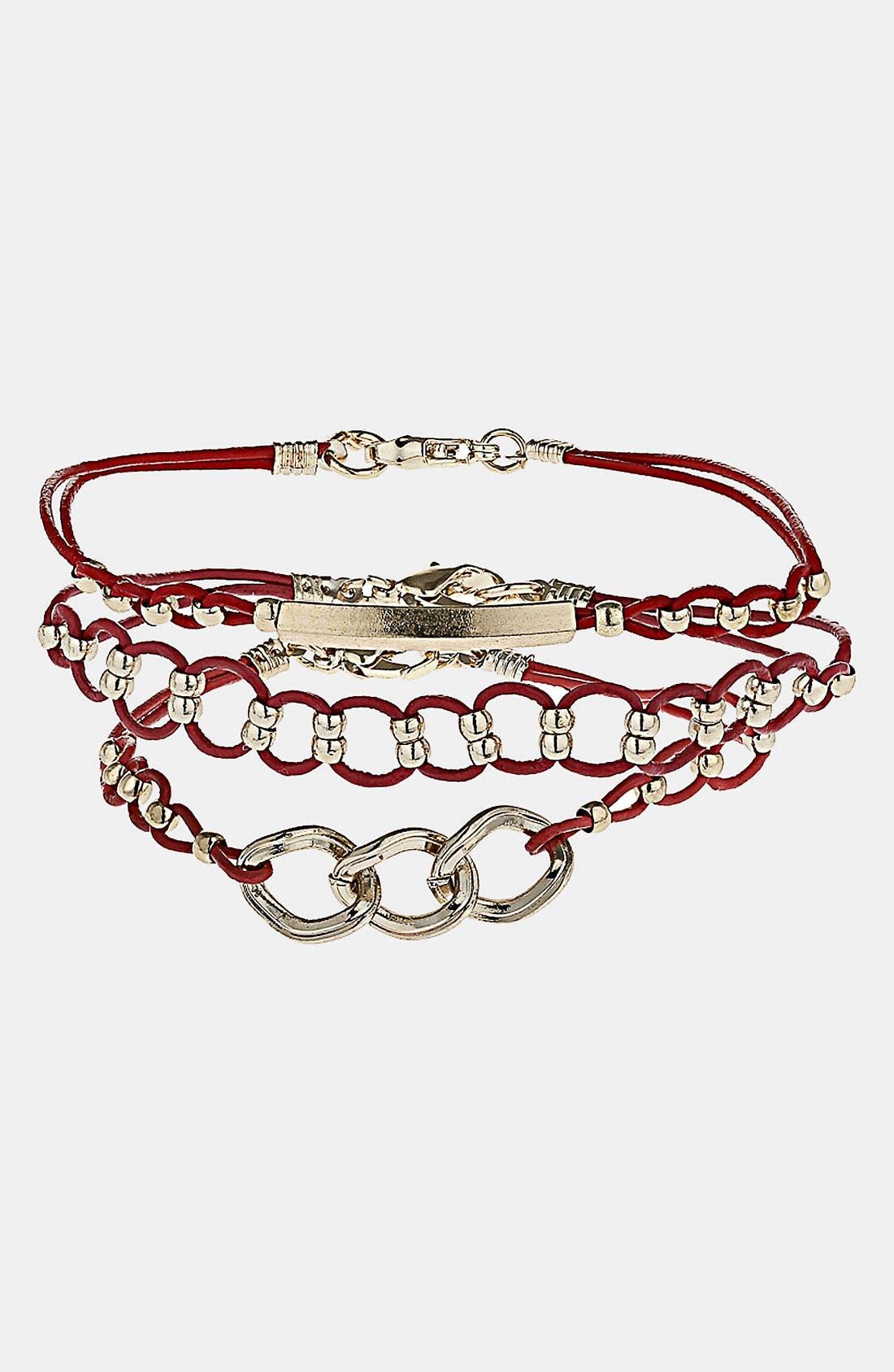 Main Image - Topshop Assorted Bracelets (Set of 3)