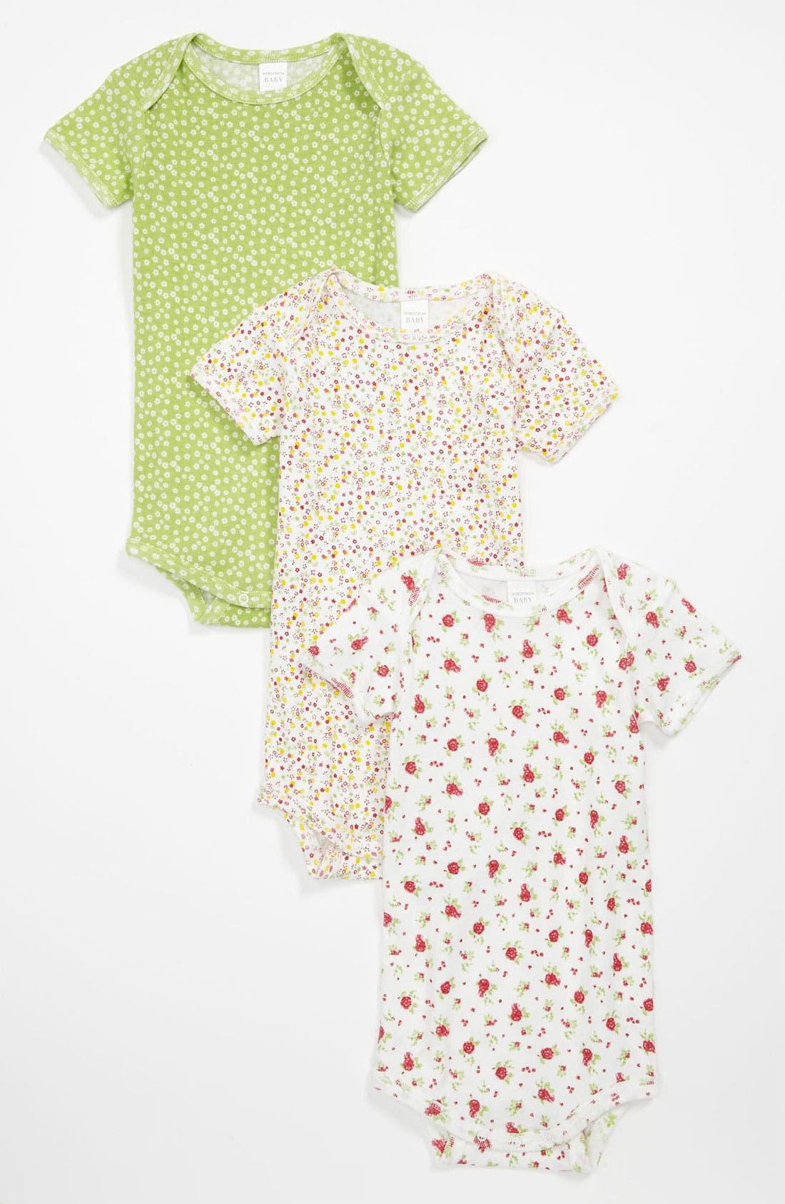 Alternate Image 1 Selected - Nordstrom Baby Bodysuit (3-Pack) (Infant)