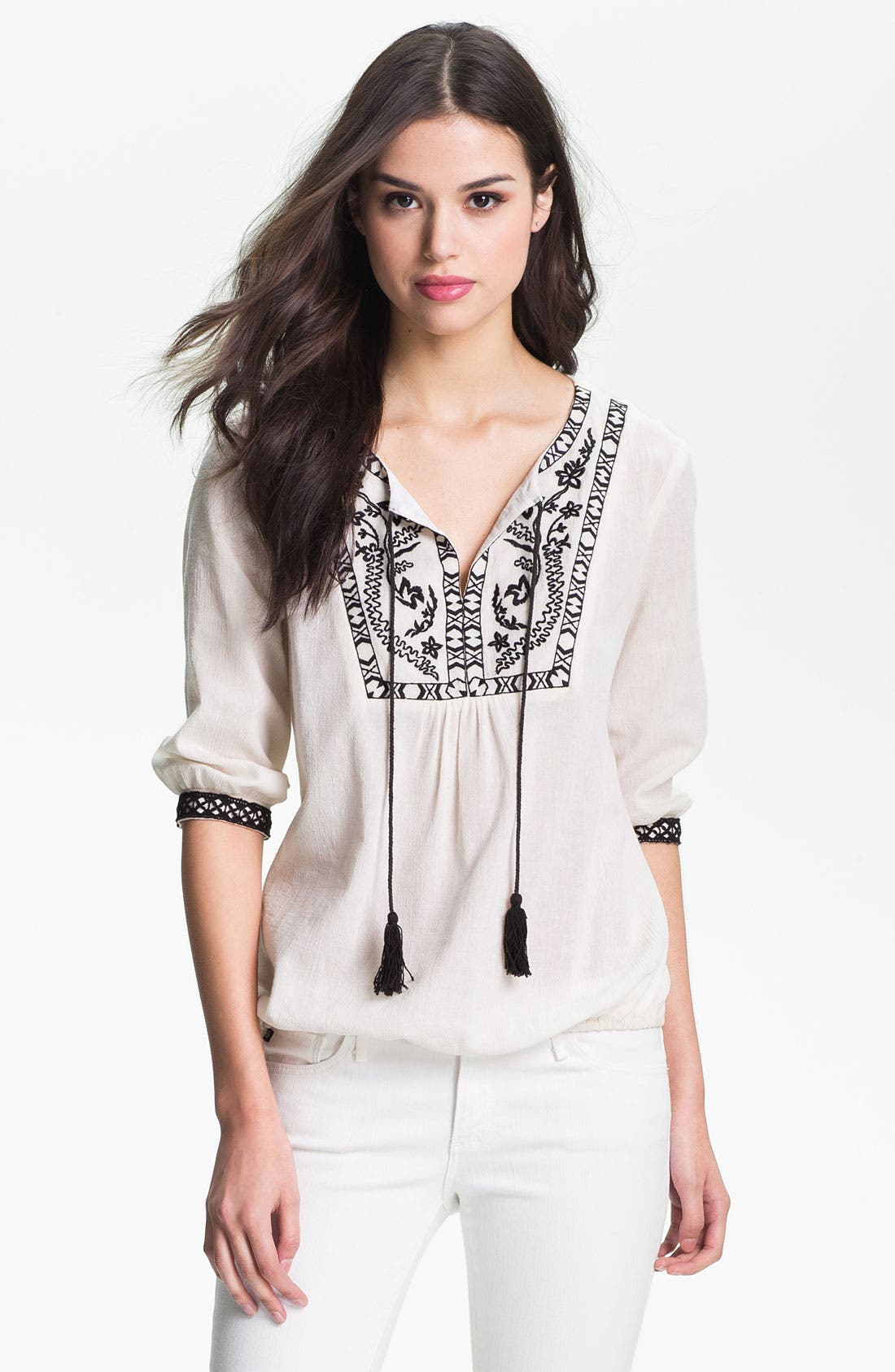 Alternate Image 1 Selected - Bellatrix Embroidered Peasant Top
