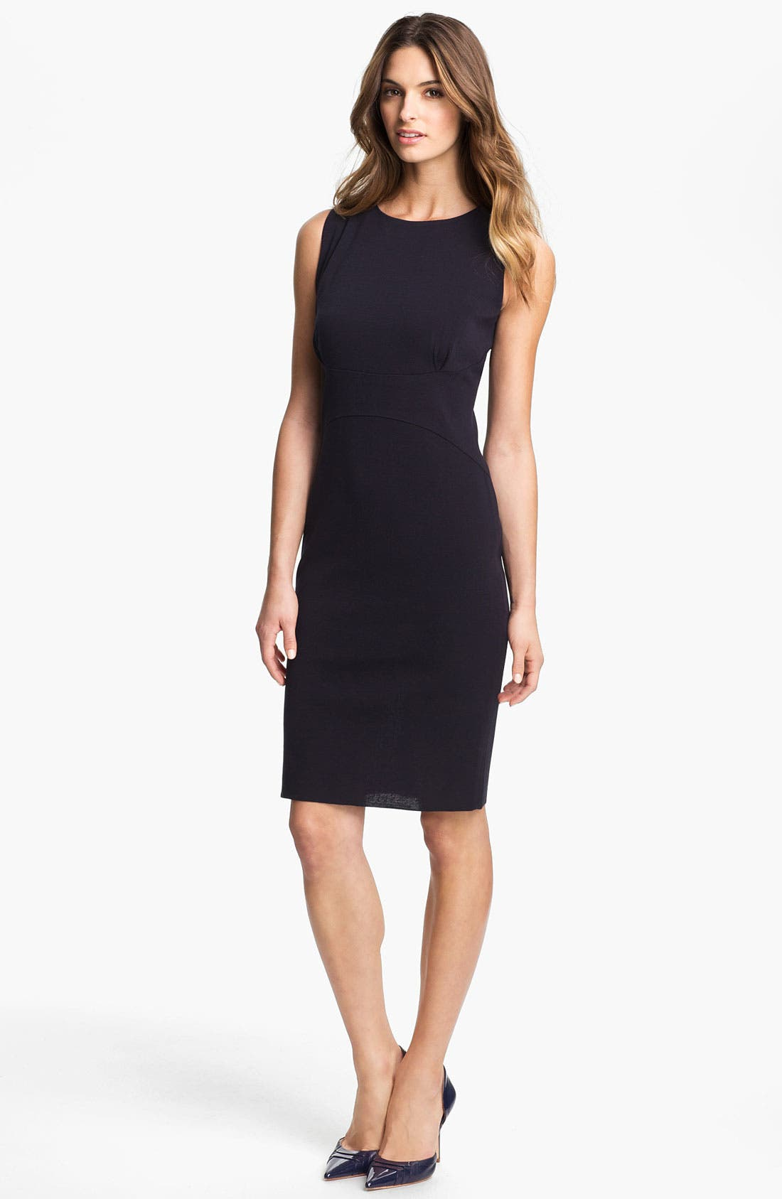 Alternate Image 1 Selected - Exclusively Misook 'Alex' Sheath Dress (Petite) (Online Exclusive)