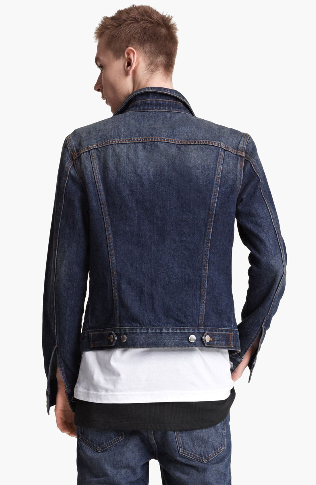 Alternate Image 2  - BLK DNM 'Jeans Jacket 5' Stonewashed Denim Jacket