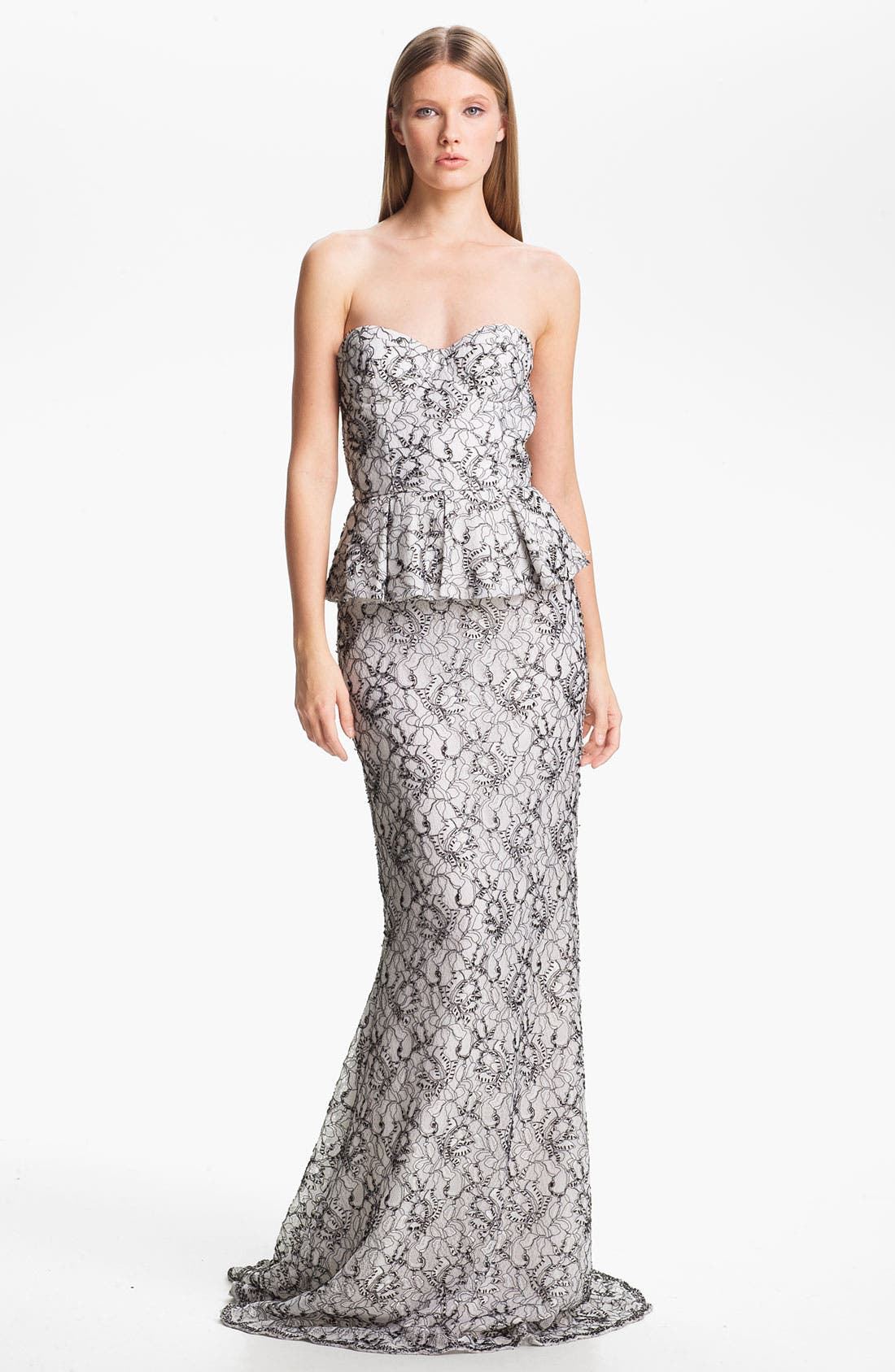 Alternate Image 1 Selected - Alice + Olivia 'Penelope' Strapless Mermaid Gown