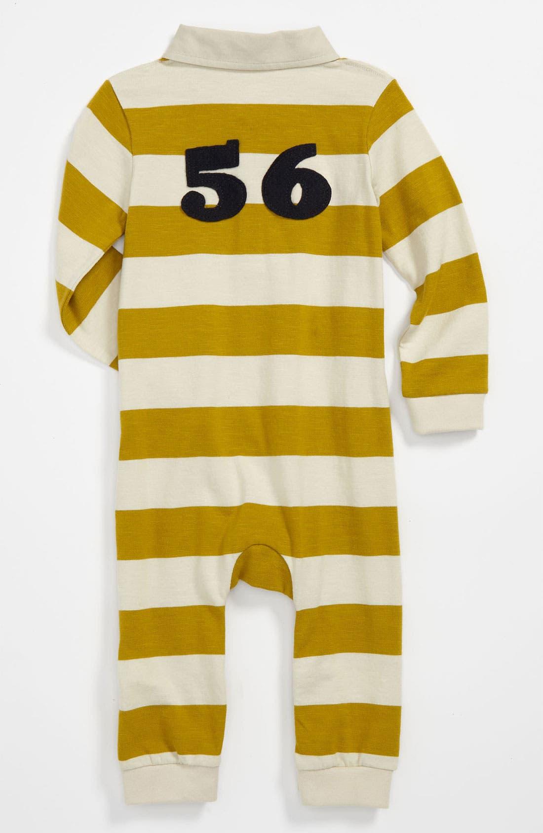 Alternate Image 2  - Burberry 'Dave' Stripe Romper (Baby)