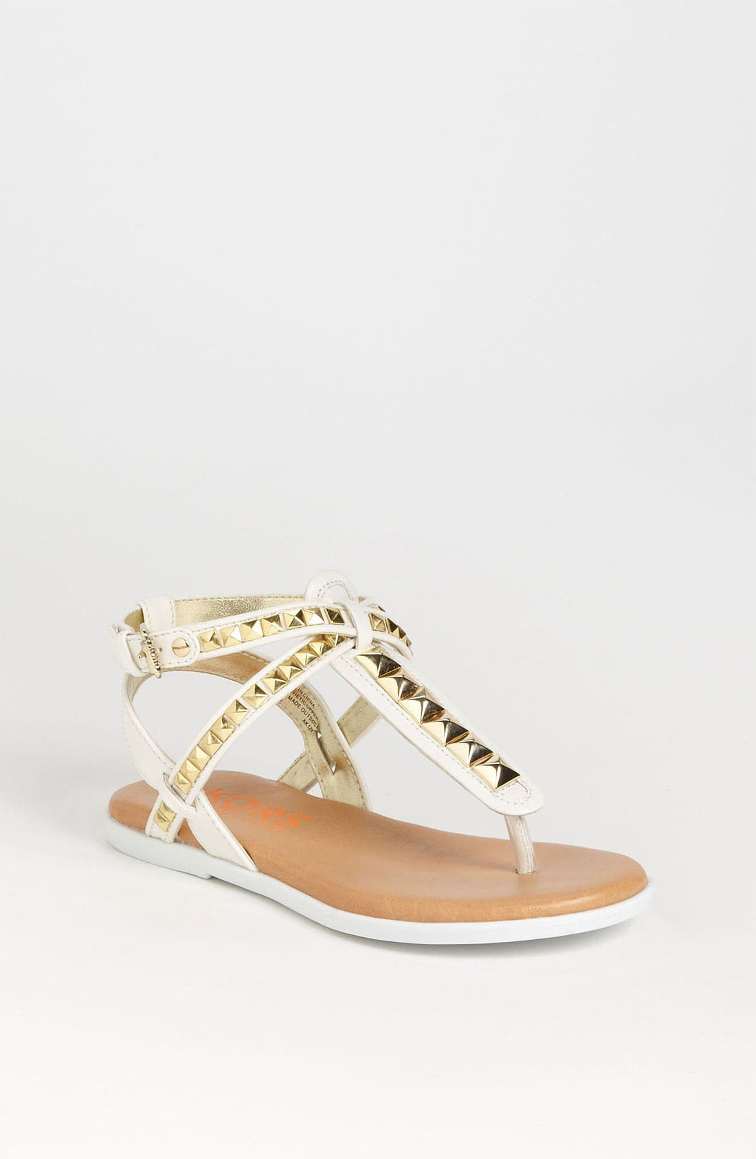 Main Image - KORS Michael Kors 'Button' Sandal (Little Kid & Big Kid)