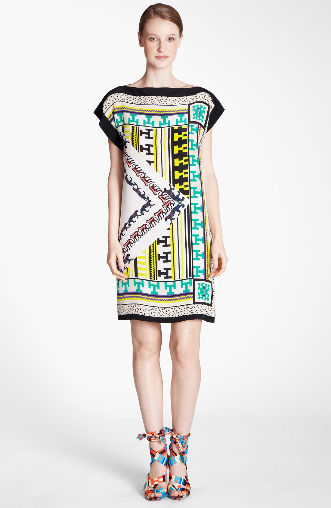 Alternate Image 2  - MSGM Belted Foulard Dress