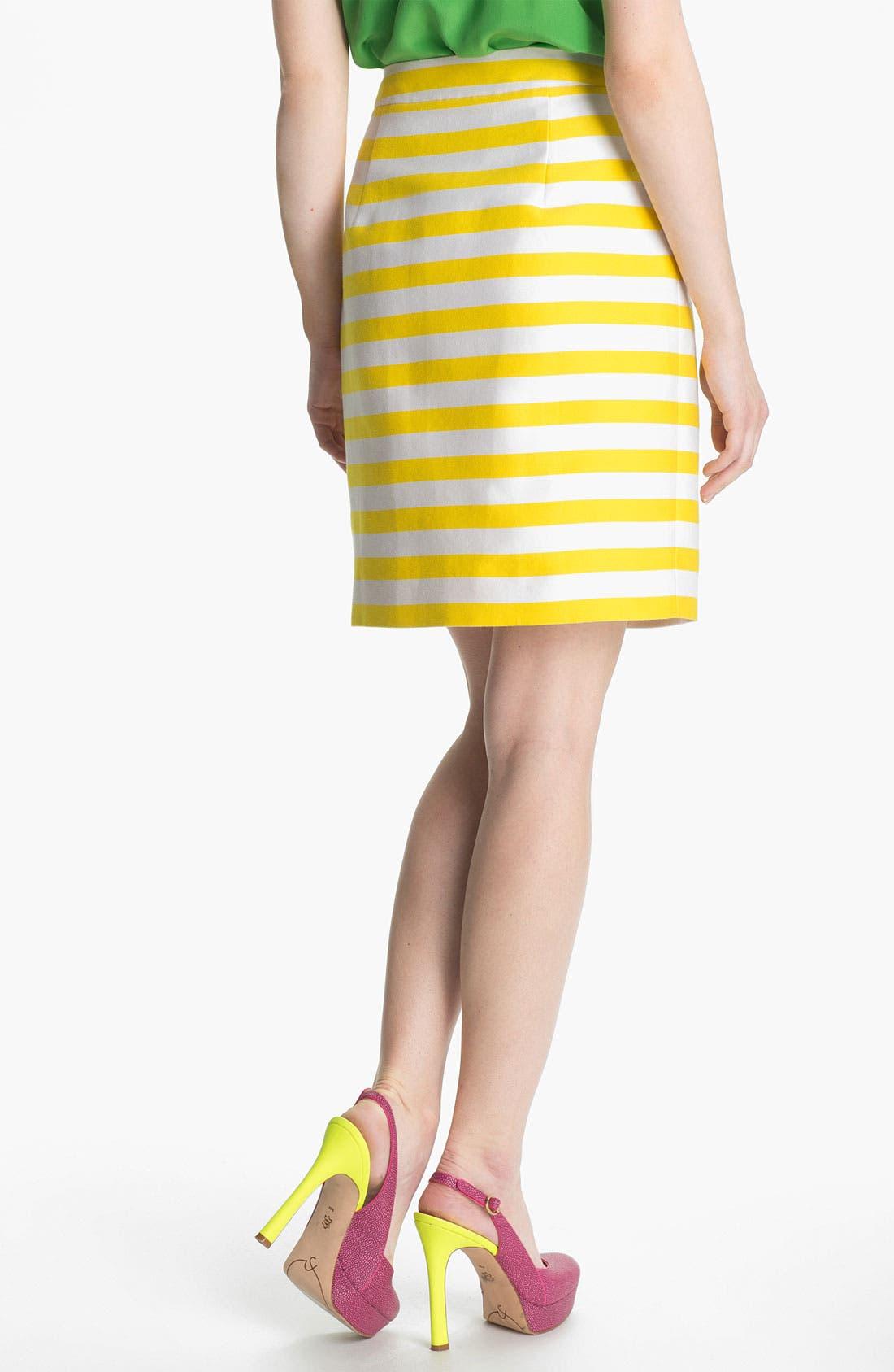 Alternate Image 2  - kate spade new york 'barry' silk blend skirt
