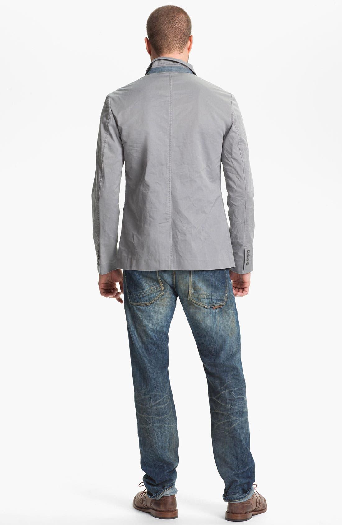 Alternate Image 6  - Natural Selection Denim 'Broken' Narrow Straight Leg Selvedge Jeans (Dune)